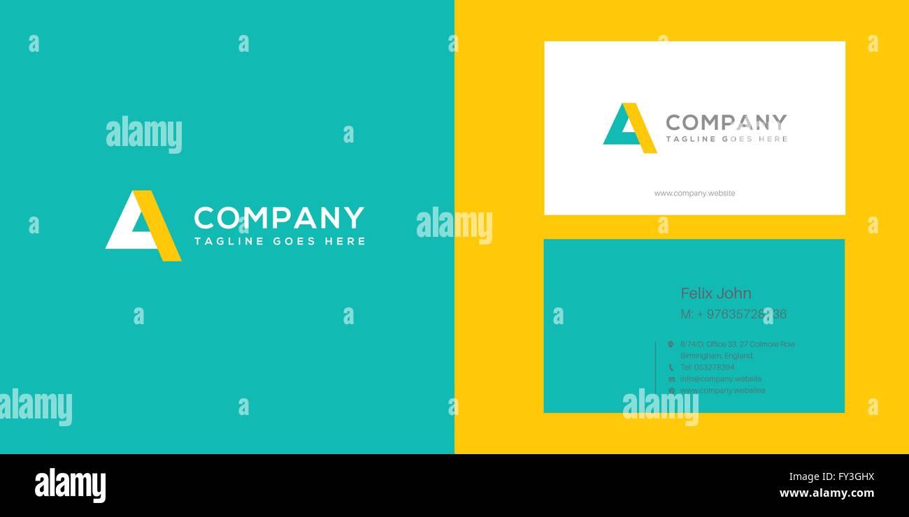 A letter logo vector element - Stock Image