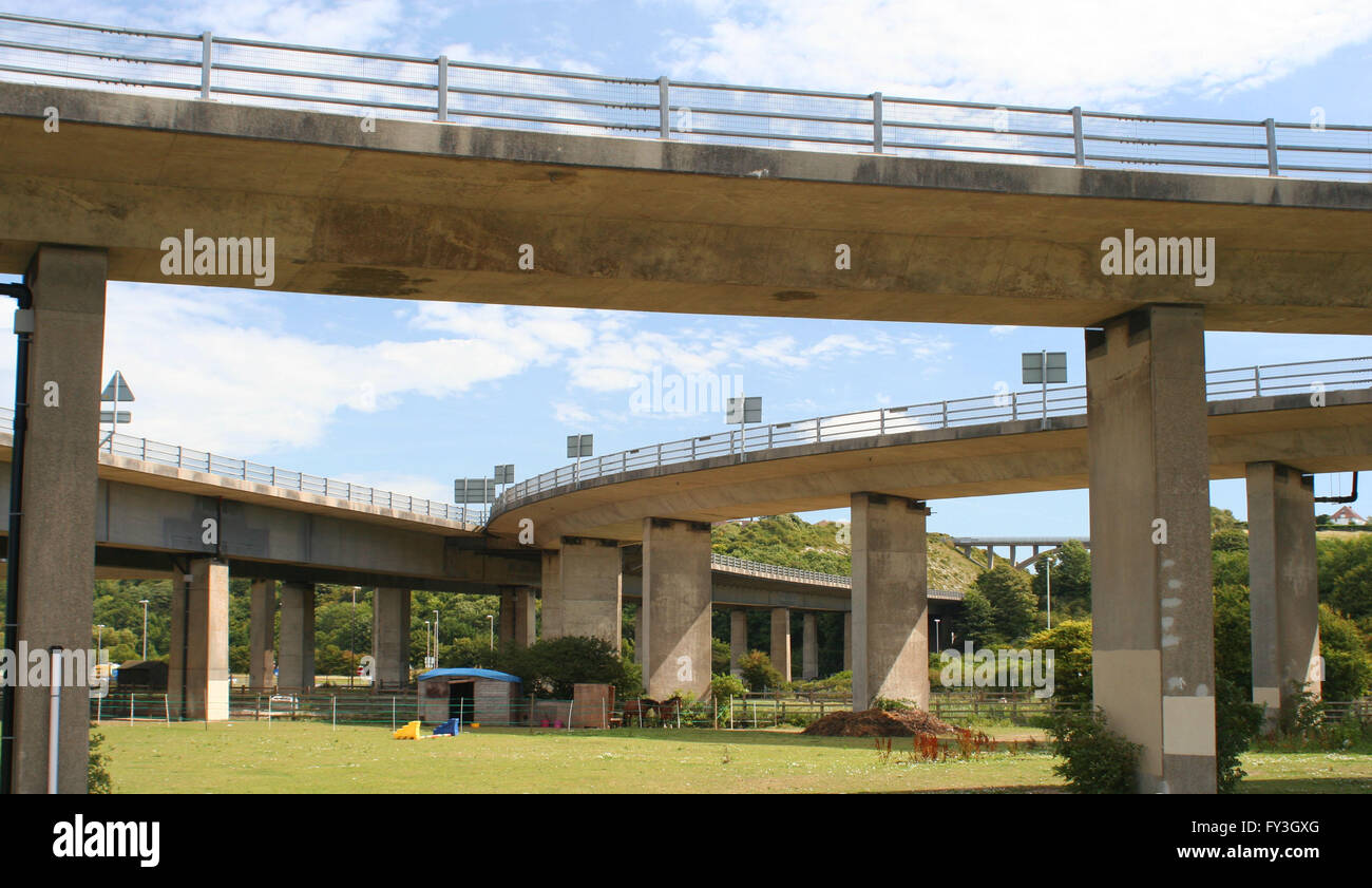 Concrete Flyovers - Stock Image