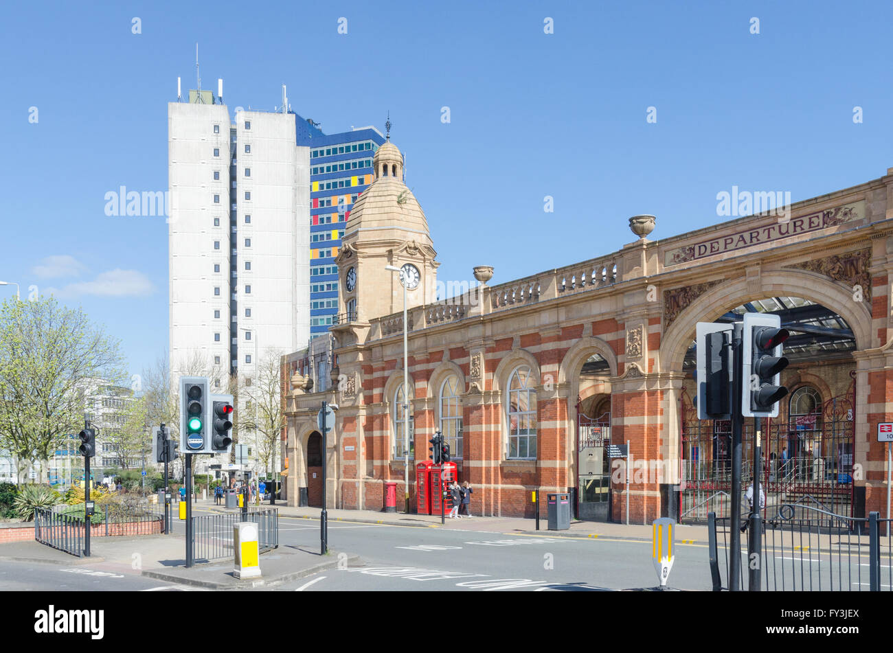 Leicester Station in London Road - Stock Image