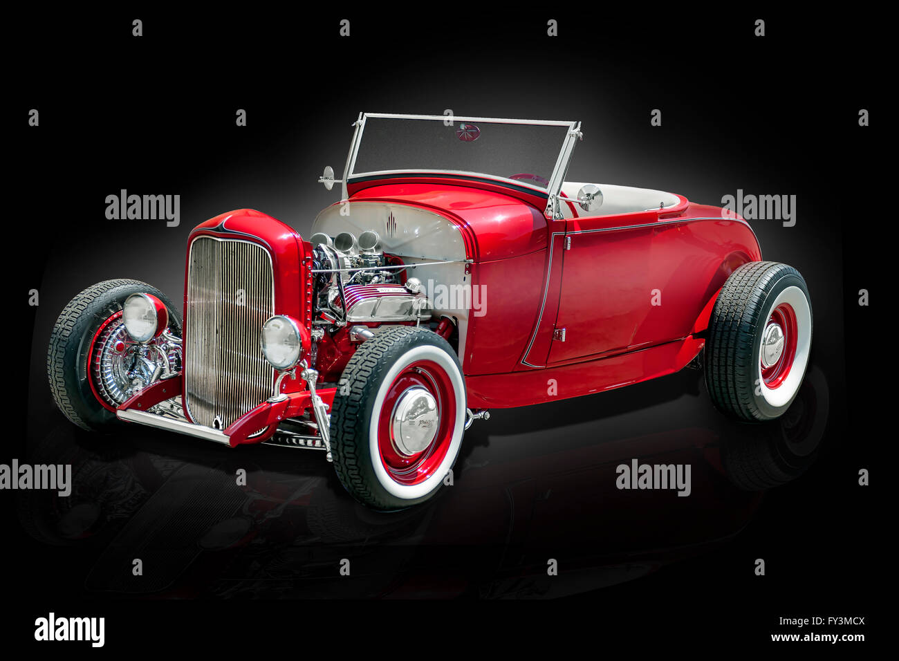 A 1932 Ford roadster Custom Hot rod - Stock Image