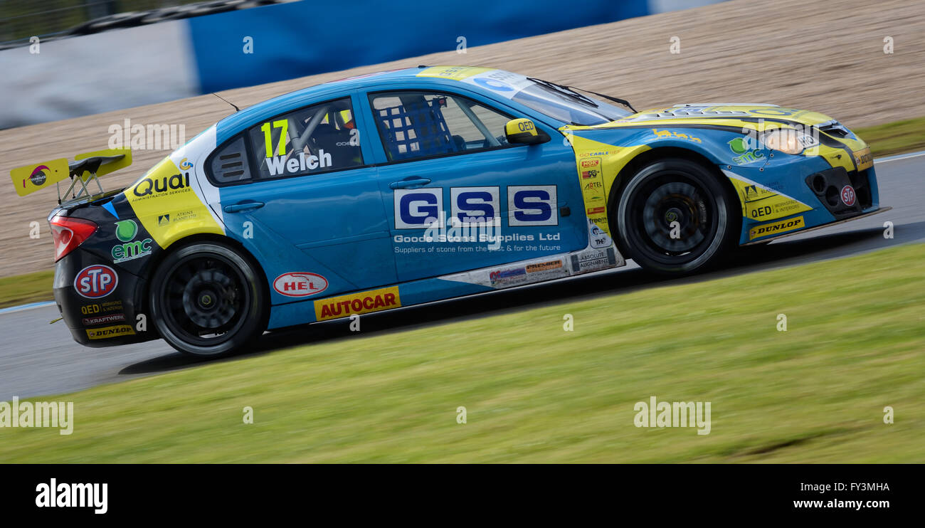 Dan Welch  Dunlop MSA British Touring Car Championship, Donington Park 2016 - Stock Image