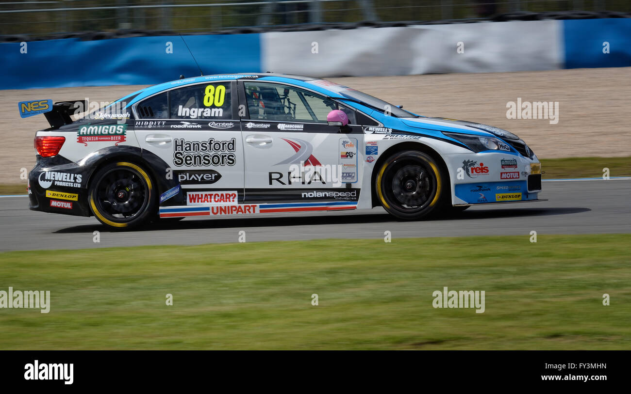Tom Ingram Dunlop MSA British Touring Car Championship, Donington Park 2016 - Stock Image