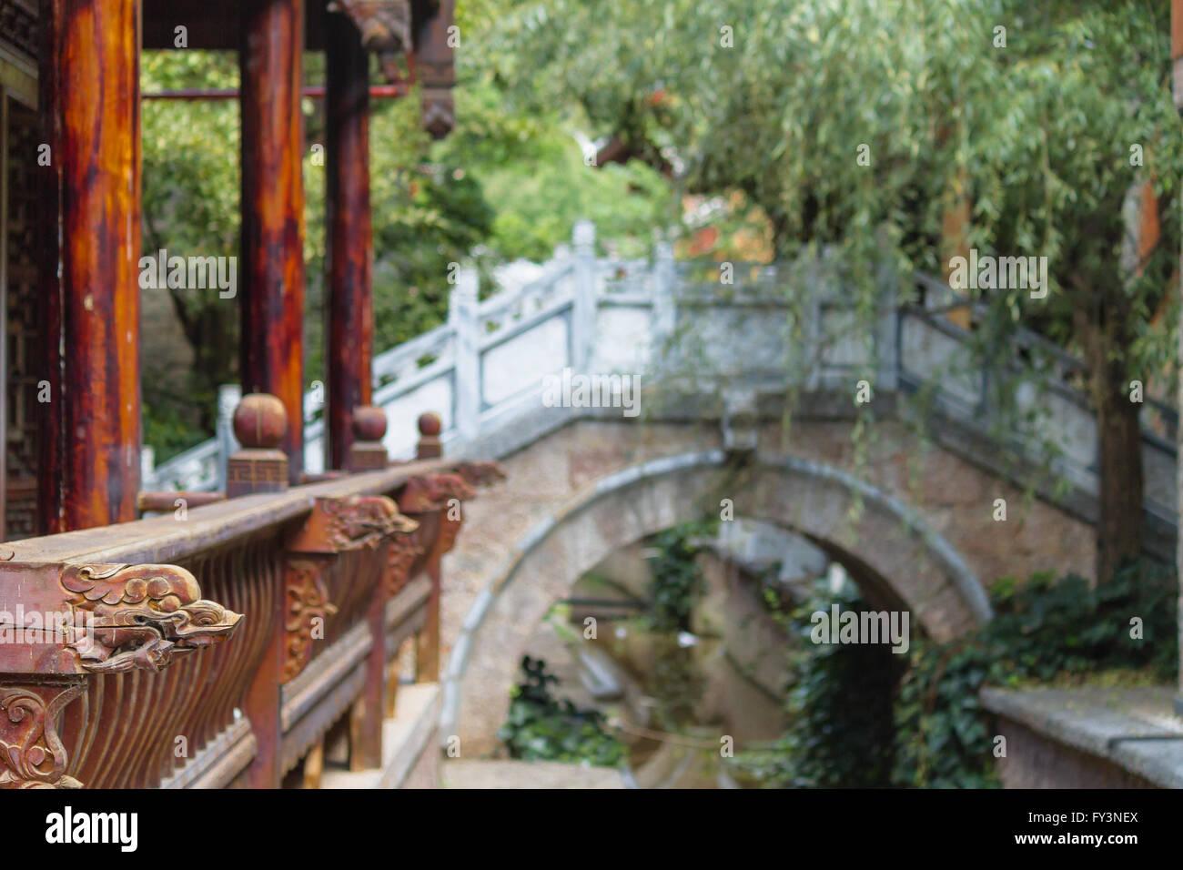 Baisha village, Lijiang Old Town, Yunnan - Traditional half timbered Architecture - Stock Image