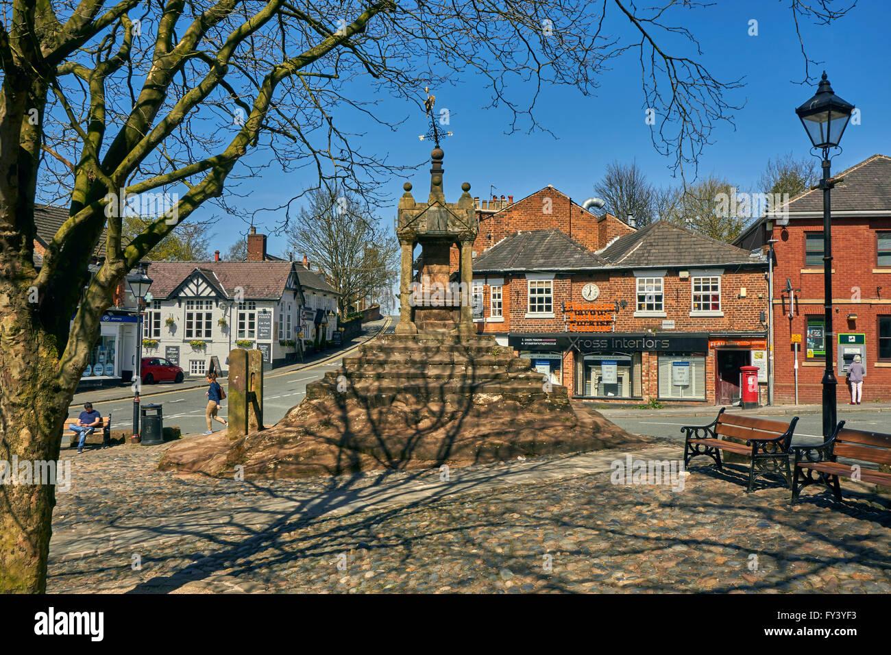 Lymm Cross at Lymm Village, Warrington, Cheshire. - Stock Image