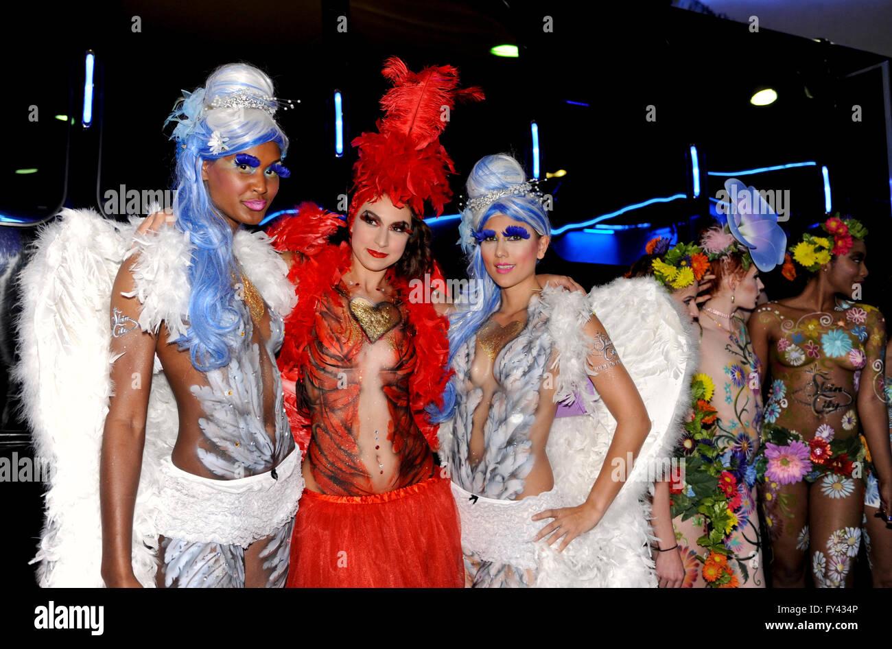Las Vegas, Nevada, USA. 20th Apr, 2016. Robin Slonina and The Sapphire Gentleman's Club Showroom & Lounge - Stock Image