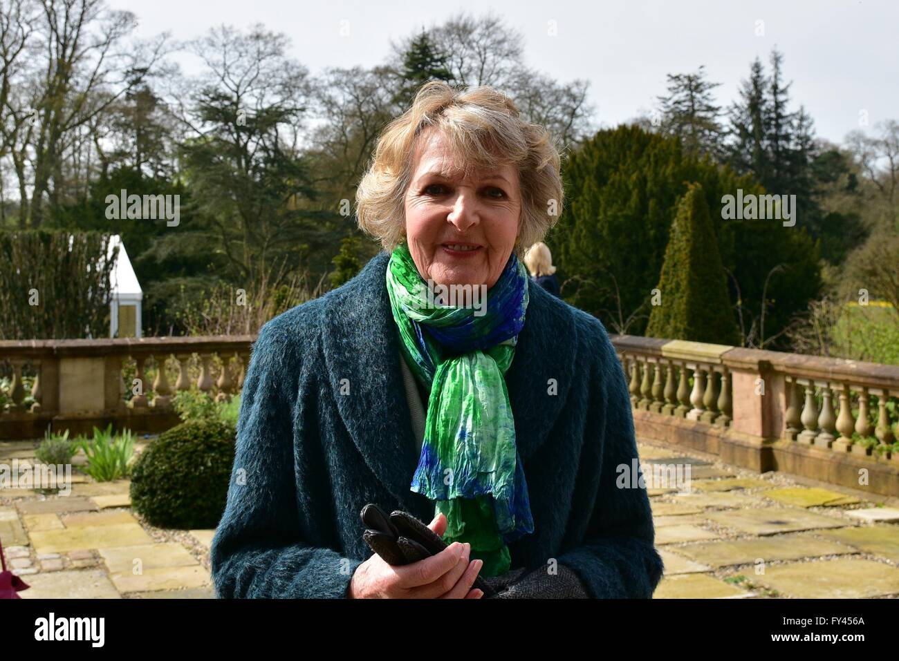 Hillsborough Castle, Ireland. 21st April, 2016. Actress Penelope Keith in Attendance during a 21 Gun Salute took - Stock Image