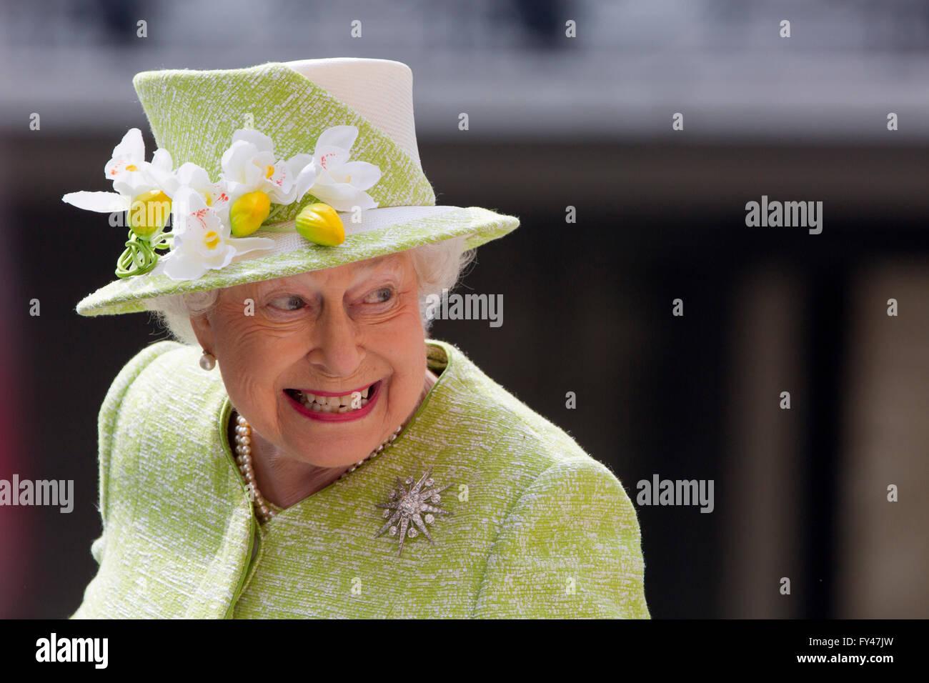 Windsor UK 21 April 2016 Queen Elizabeth II On Her 90th Birthday