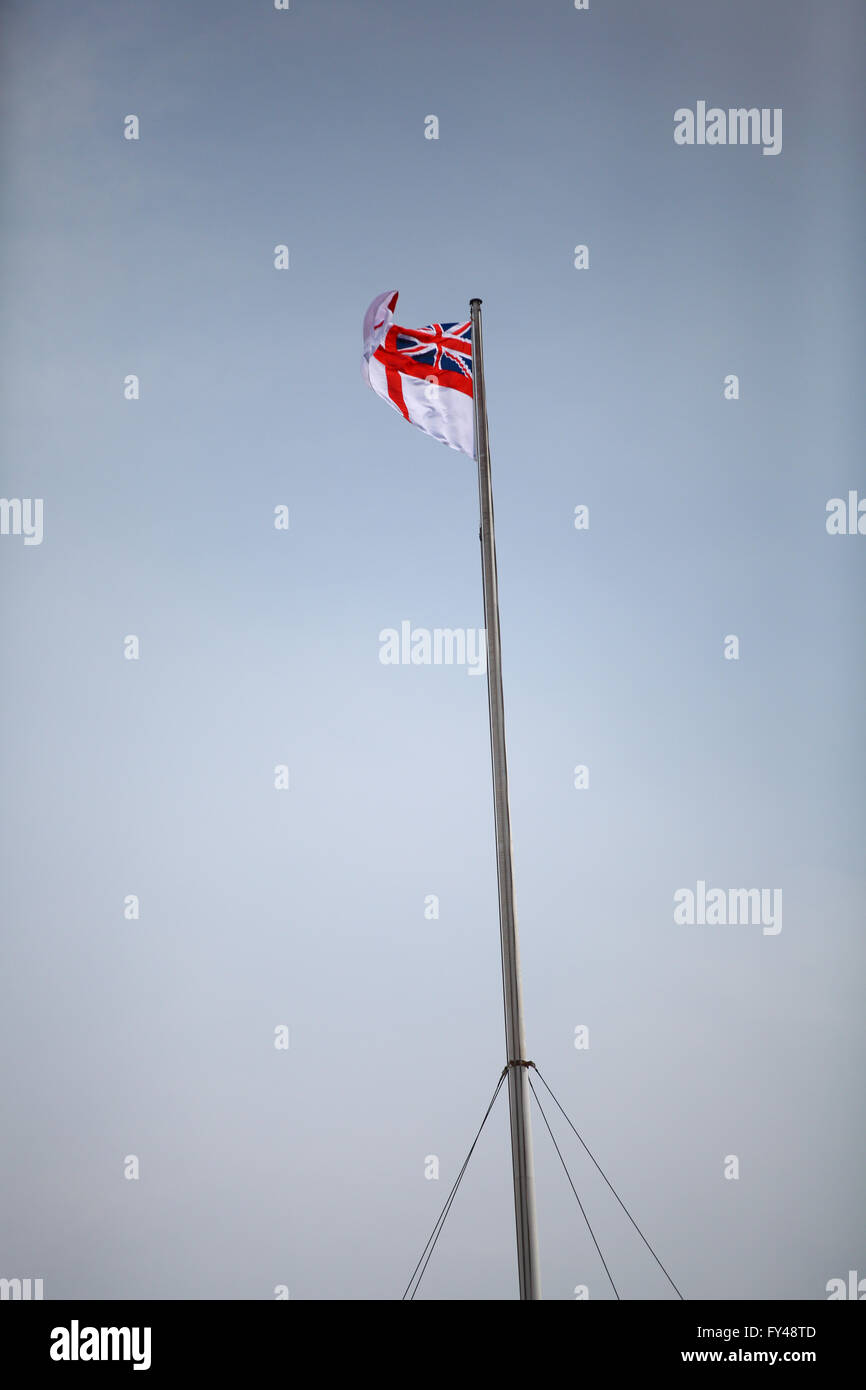 The Mall, London, 21 April 2016 - Flag on top of Admiralty Arch to celebrate the Queen's 90th Birthday. Credit: - Stock Image
