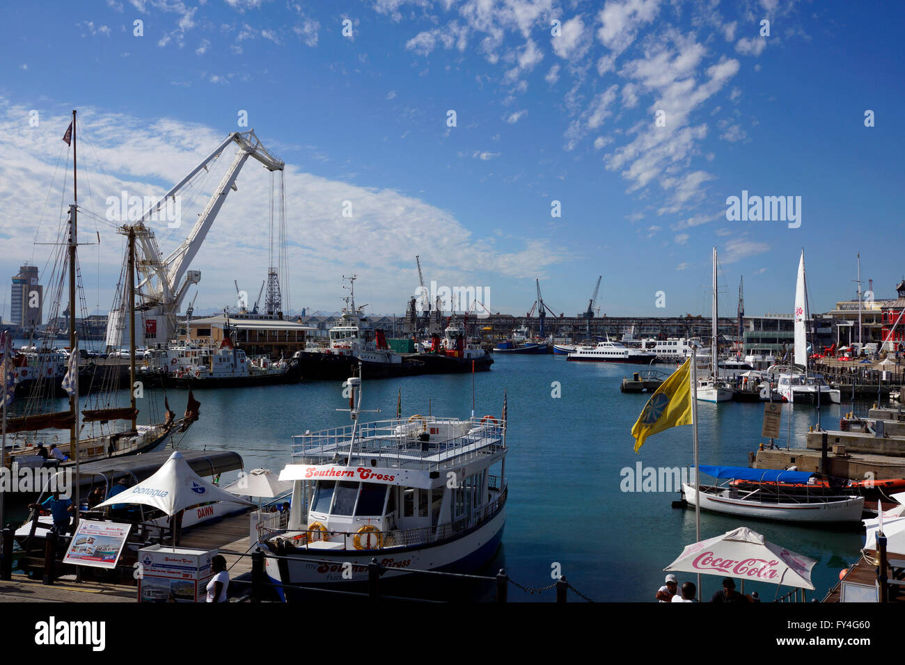 Cruise ships at the V & A Waterfront in Cape Town, South Africa. - Stock Image