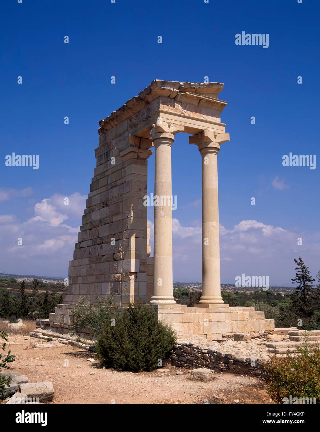 Kourion, Apollon-Temple, South Cyprus, Europe - Stock Image