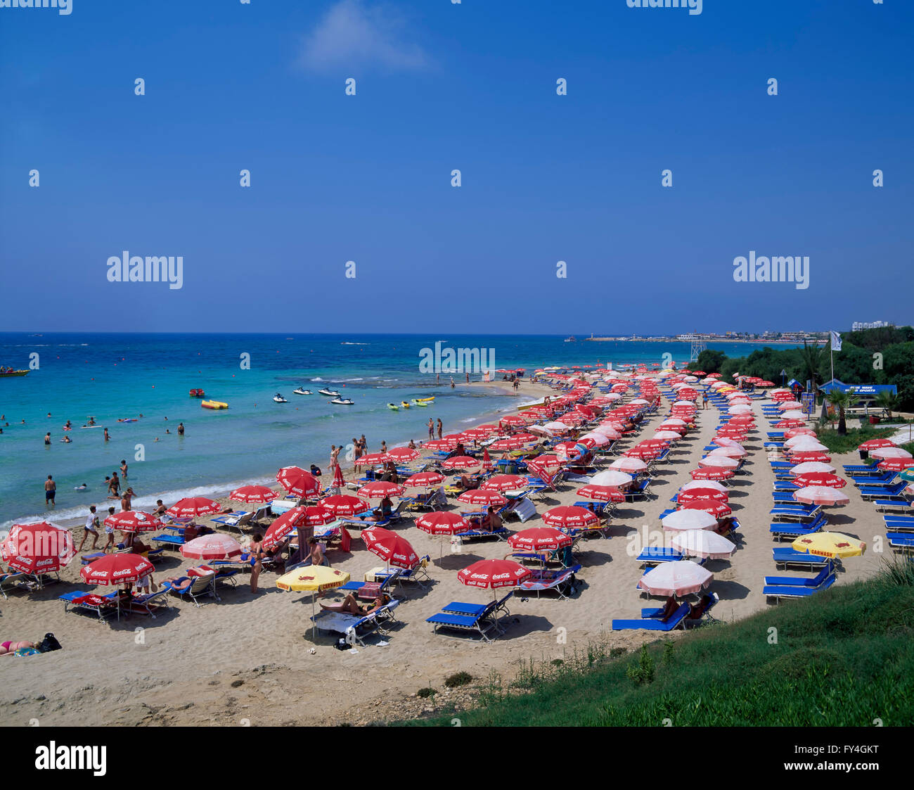 Ayia Napa, beach, South CYPRUS, Europe - Stock Image