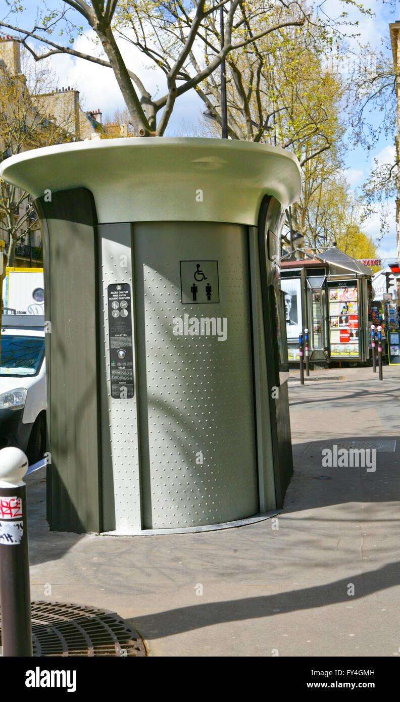 Public toilets near Saint Germain de Pres,Paris,France - Stock Image