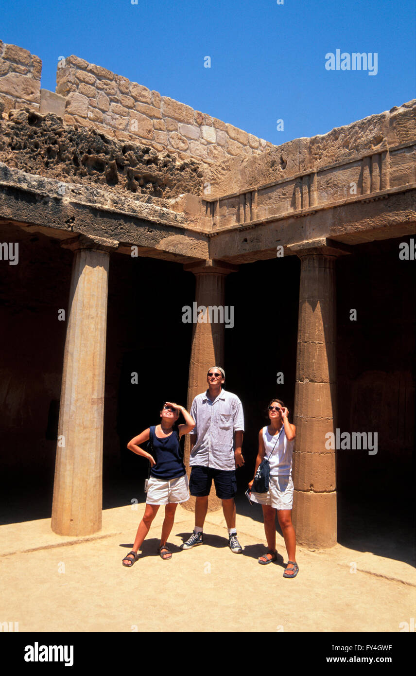 Pafos, kings tombs, south Cyprus - Stock Image