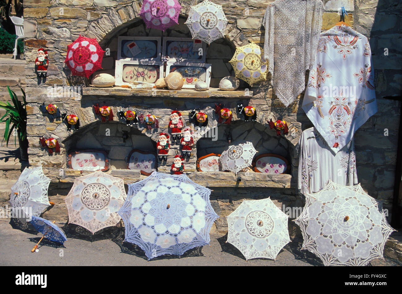 , handicraft village Omodos,  South CYPRUS, Europe - Stock Image