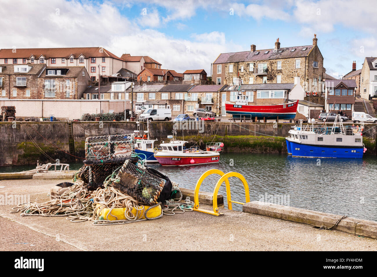 The Harbour at Seahouses, Northumberland, England, UK - Stock Image