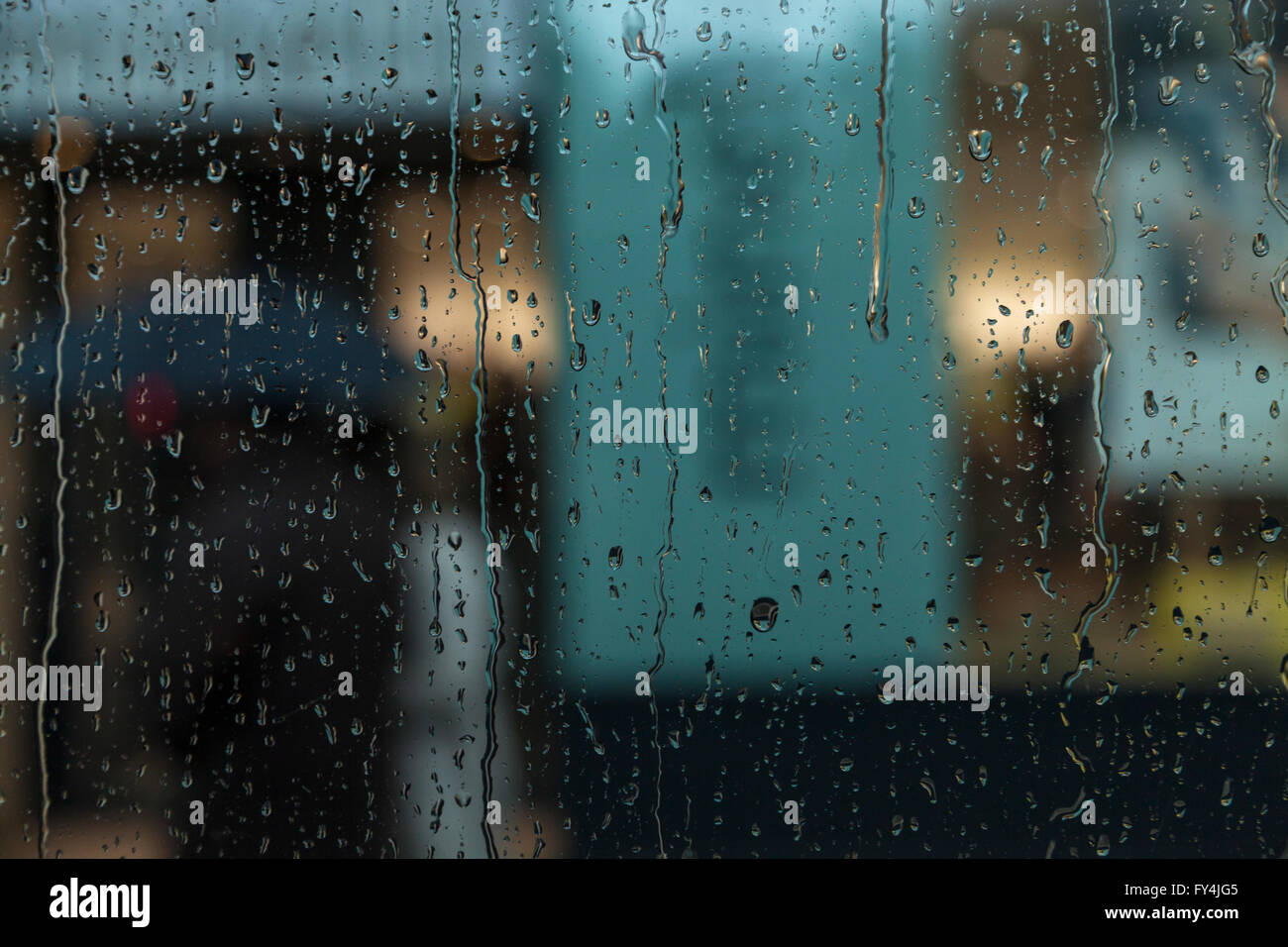 Rain in the bus - Stock Image