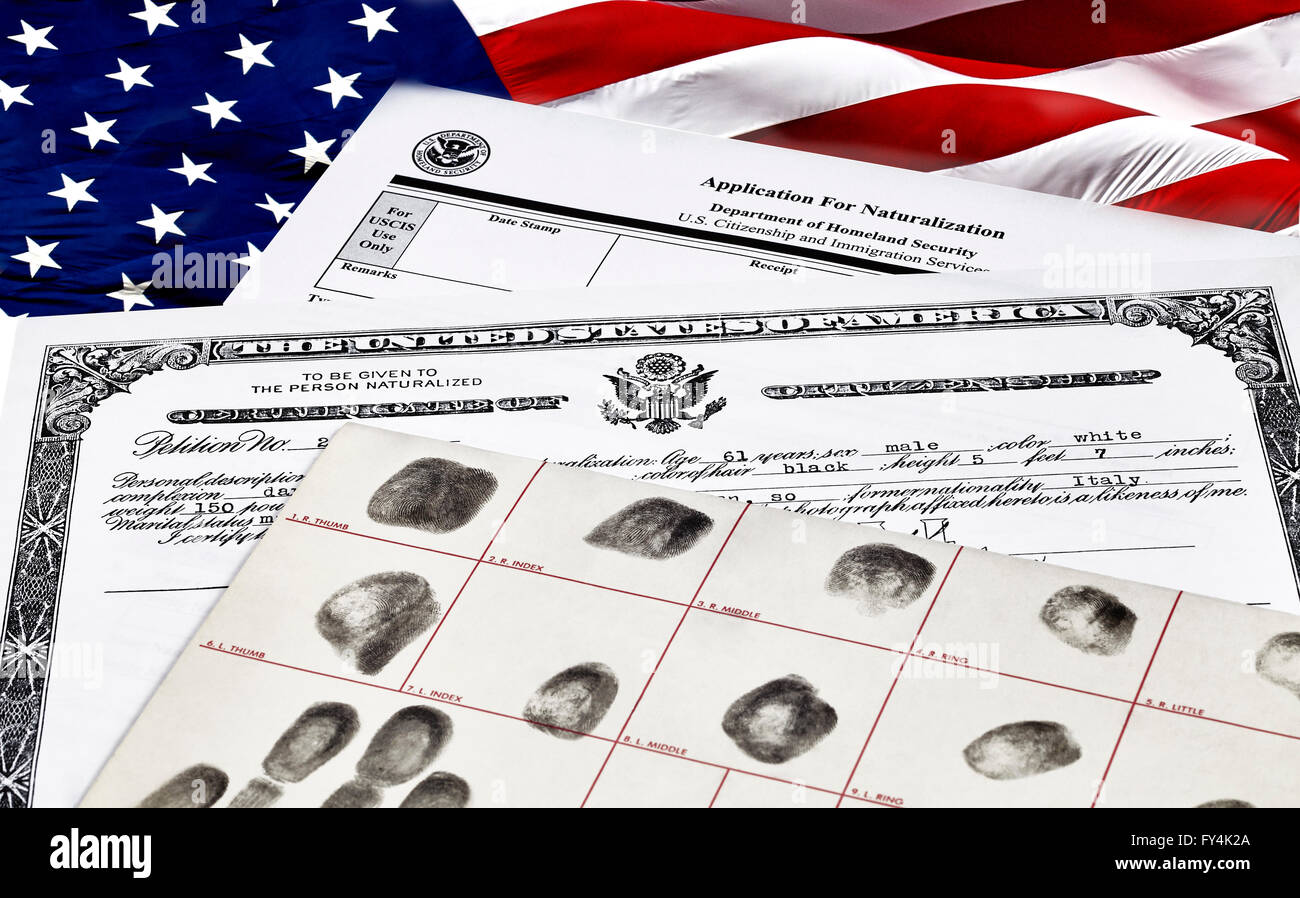 Certificate Of Citizenship Fingerprint Card And Application For