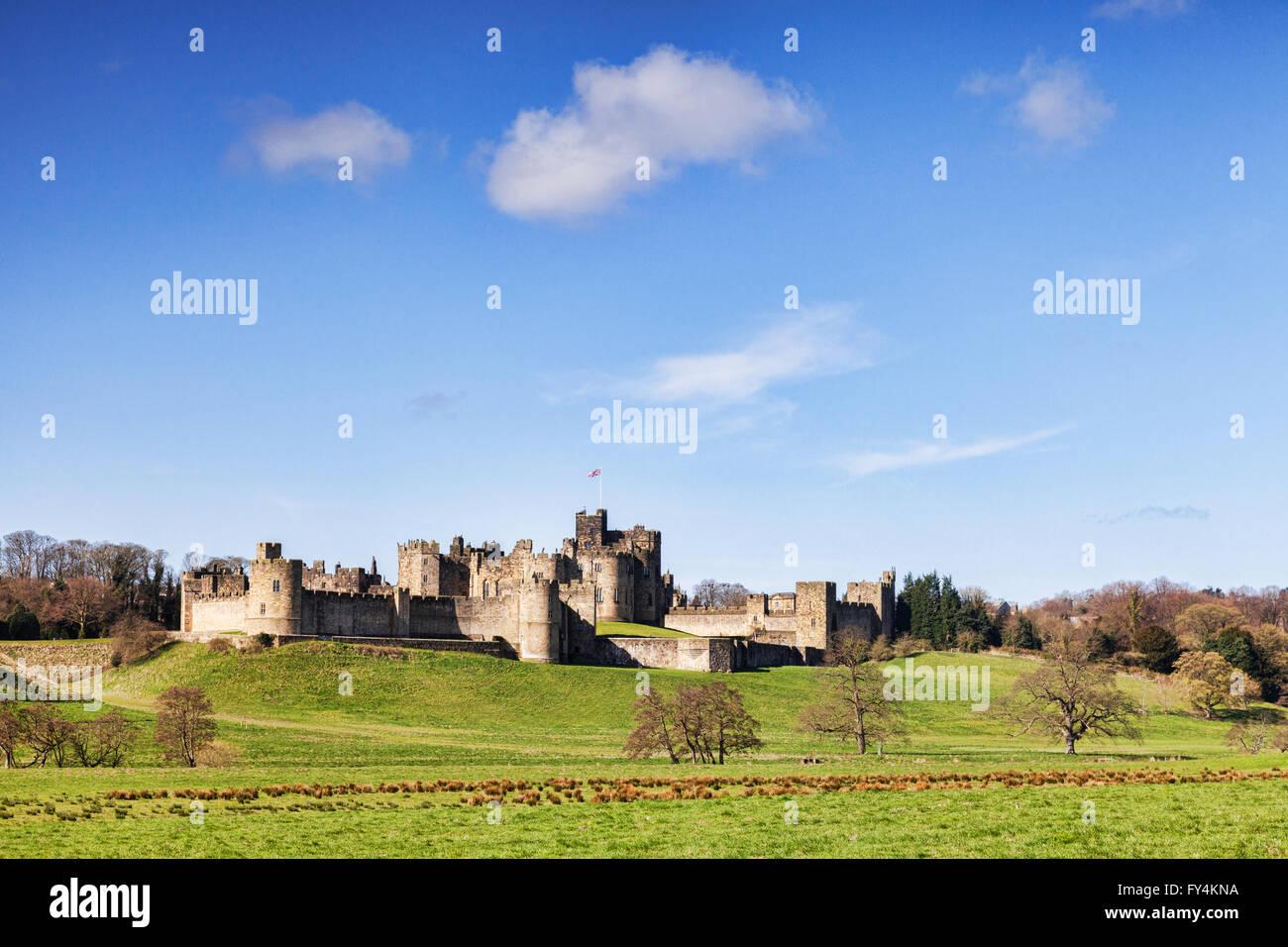 Alnwick Castle, Northumberland, England, UK - Stock Image