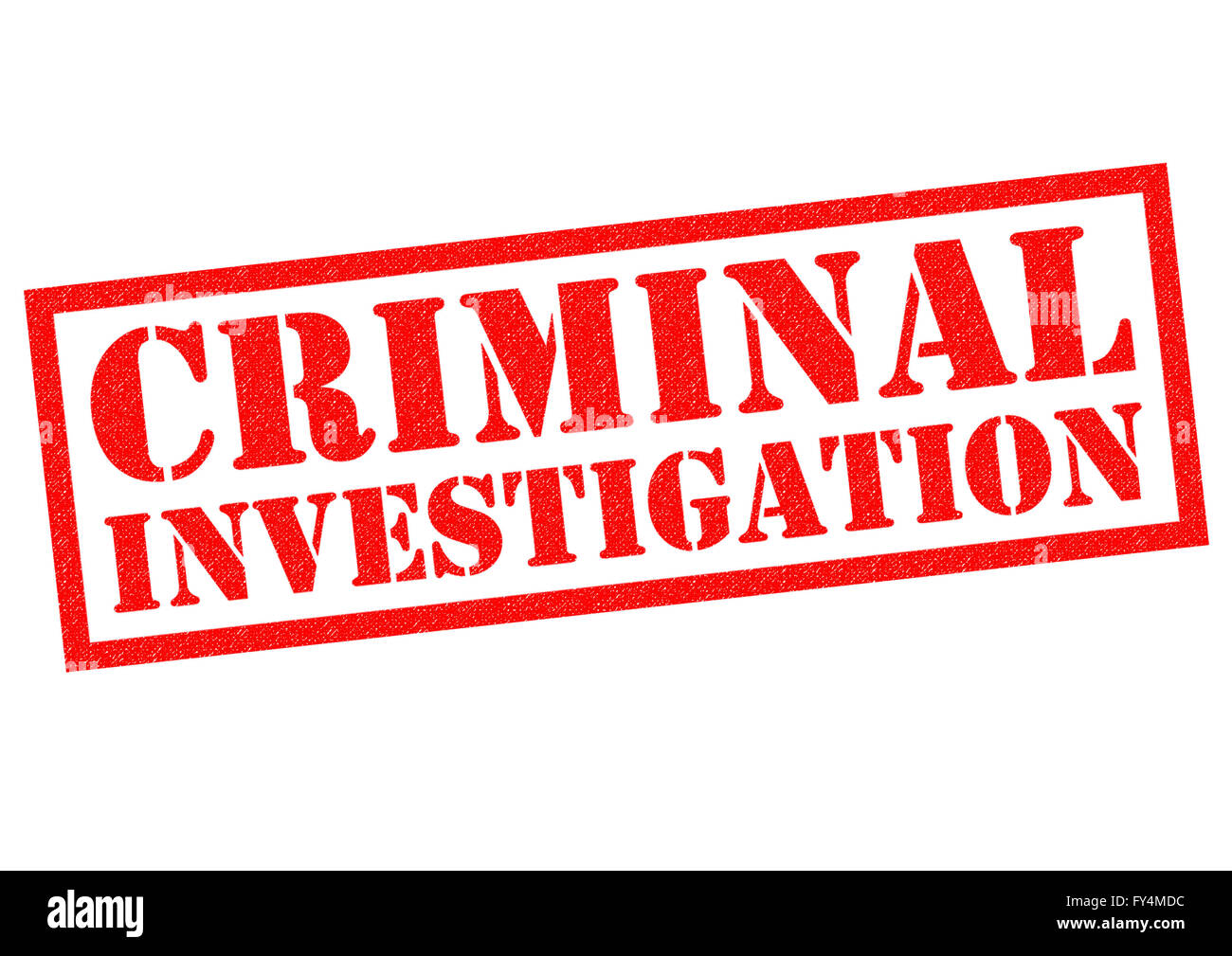 CRIMINAL INVESTIGATION red Rubber Stamp over a white background. - Stock Image
