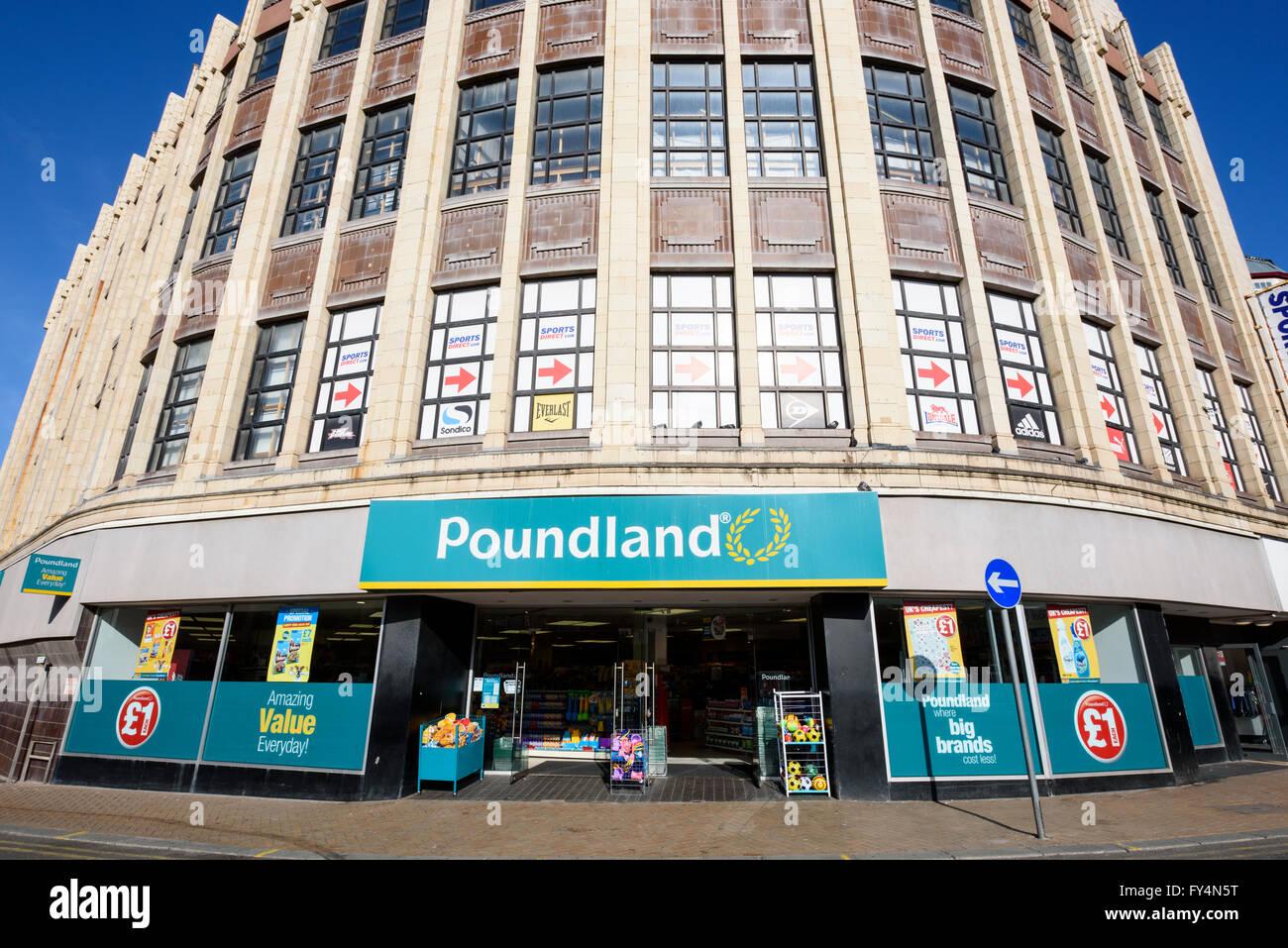50ec74f7de466 The front of a large Poundland shop in Blackpool, Lancashire, UK ...