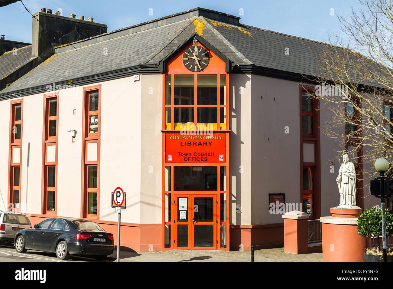 The library, Skibbereen, West Cork, Ireland - Stock Image