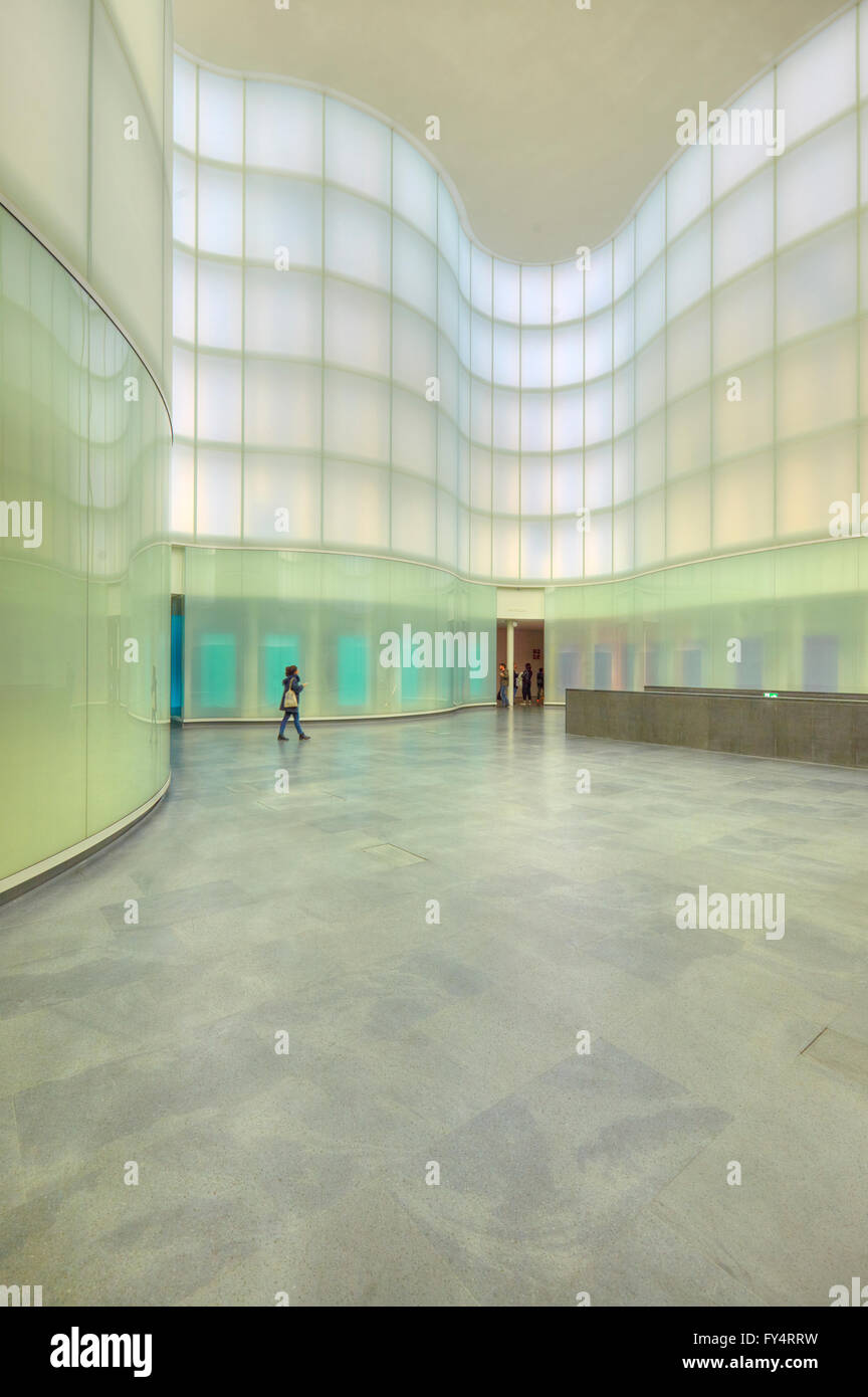 Modern architecture of Mudec museum in Milan, Italy - Stock Image