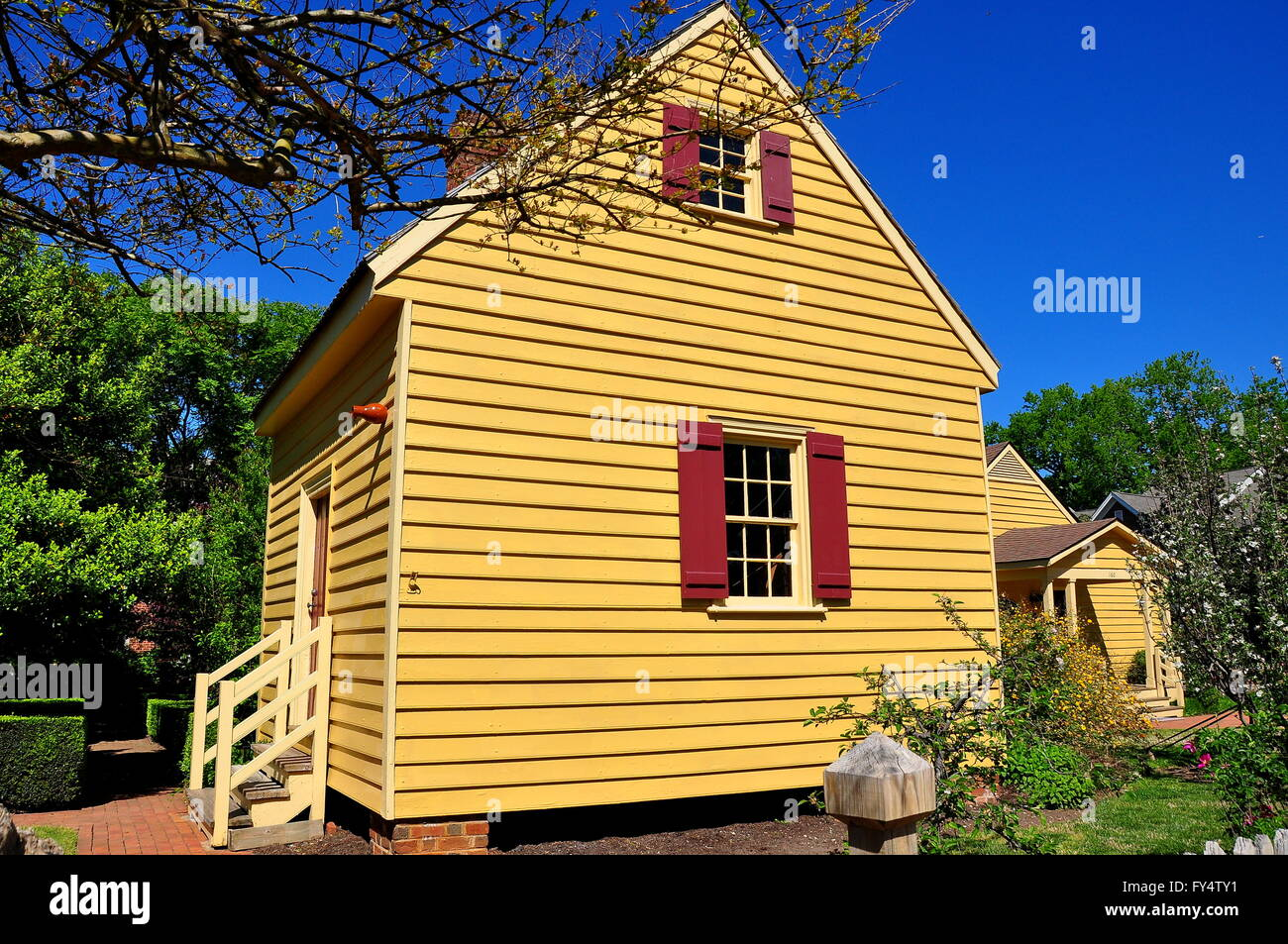 Raleigh, North Carolina: 1779 Wooden Clapboard Outer Dependency Building At  The Joel Lane House Museum *