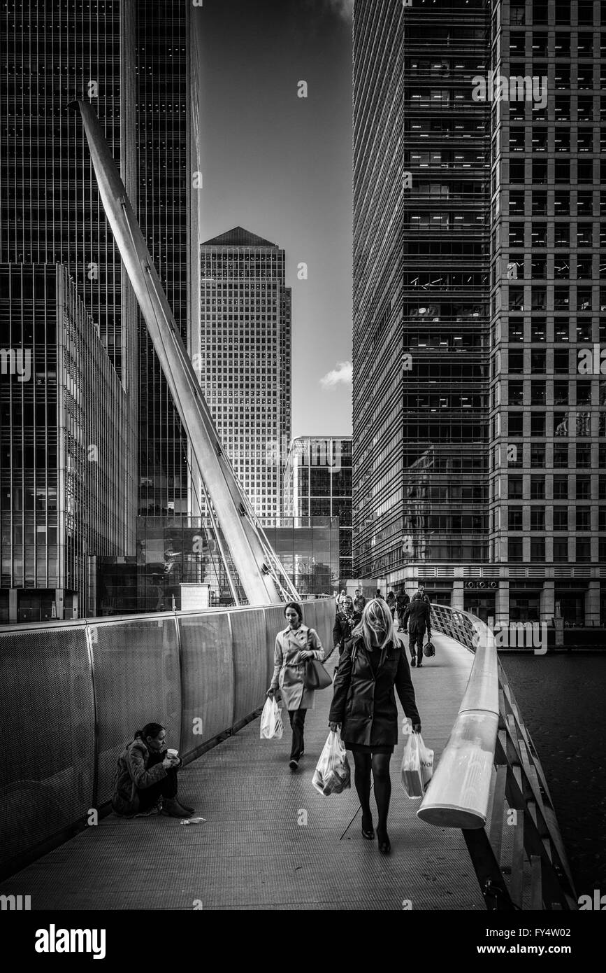 Canary Wharf, London - Stock Image