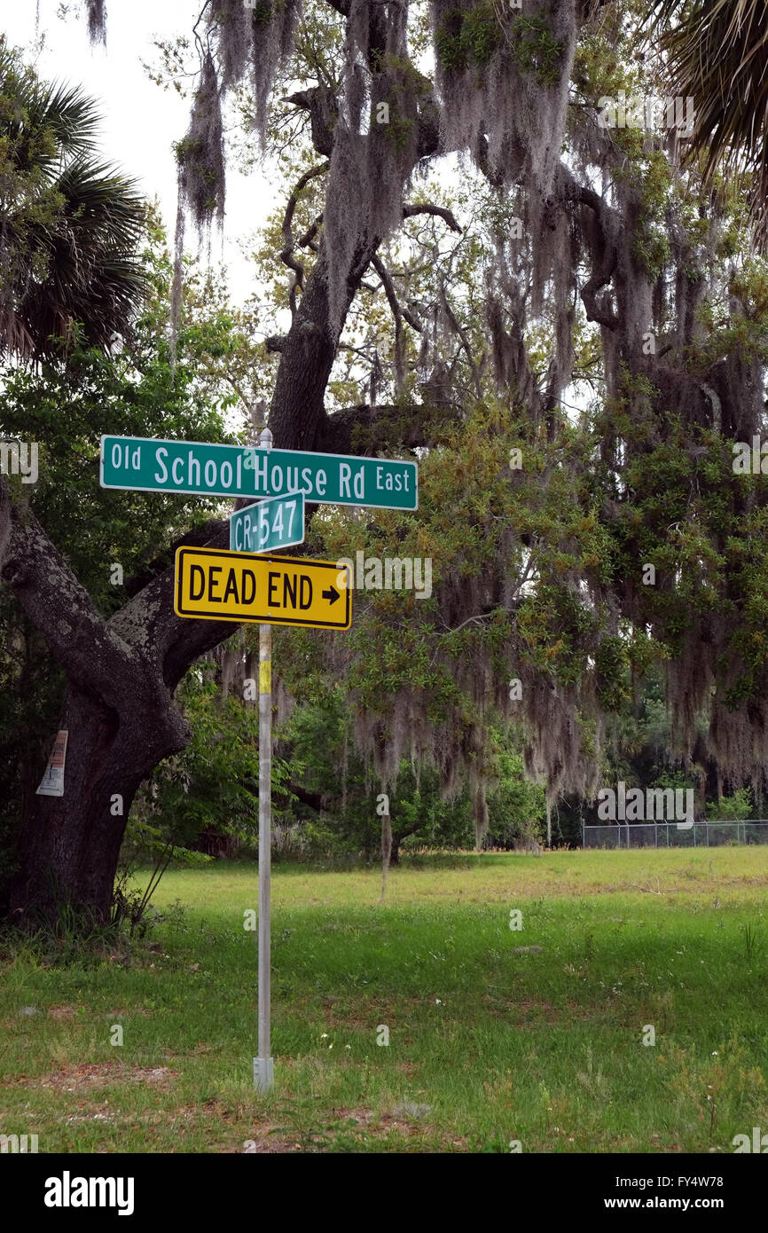 Old school house road East in Loughman, Davenport Florida, USA , 23rd April 2016 - Stock Image