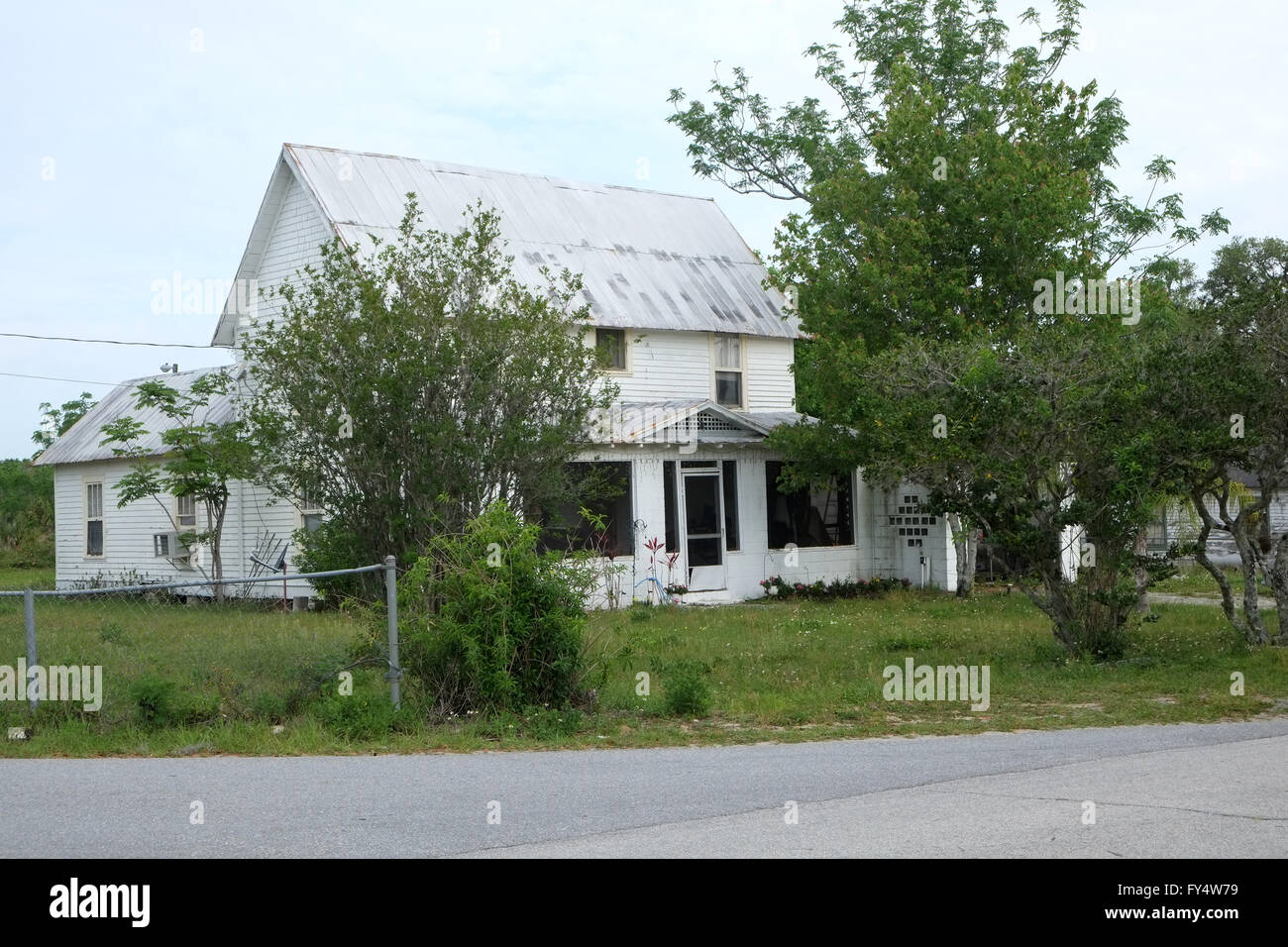 A typical house in Florida in a not so well off area, Loughman, Davenport, Florida,  April 2016 - Stock Image