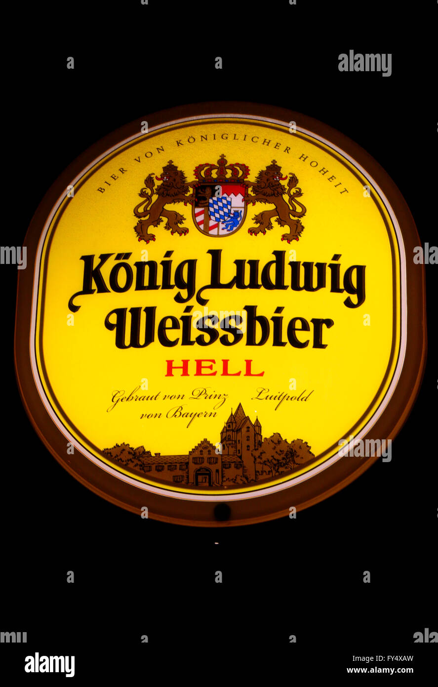 Markennamen: 'Koenig Ludwig Weissbier', Berlin. - Stock Image