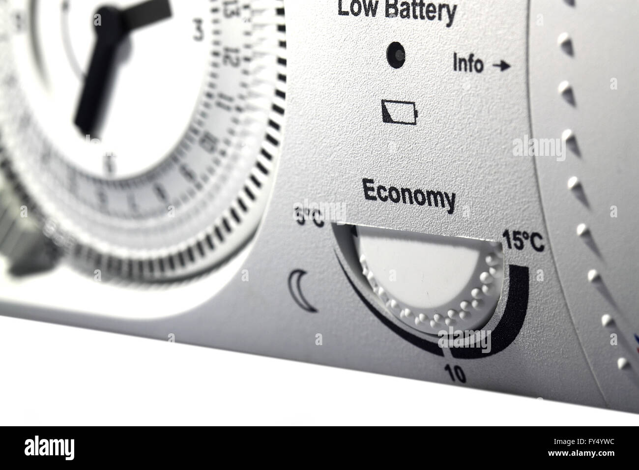 Thermostat timer central heating - Stock Image