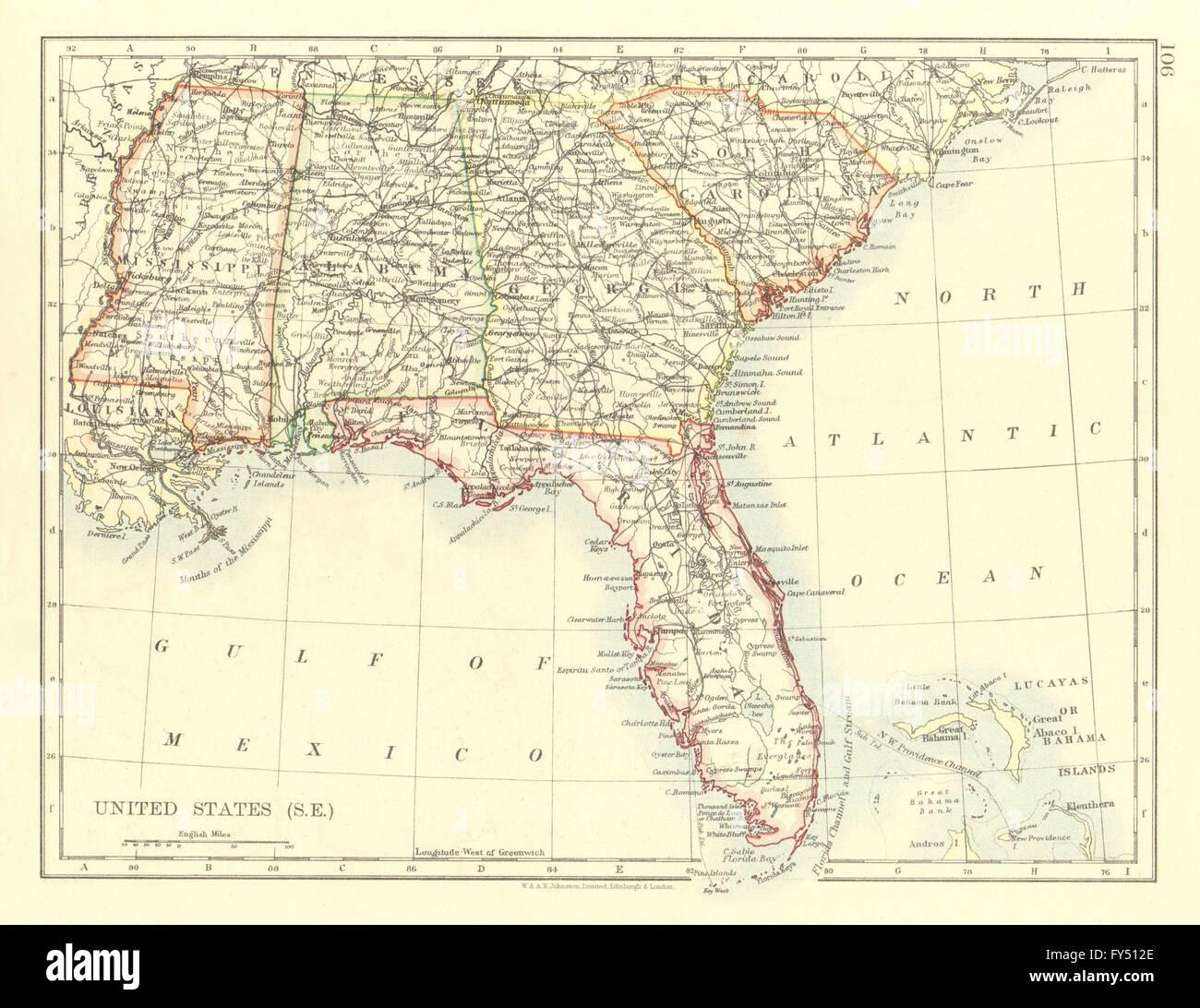 USA DEEP SOUTH. Florida South Carolina Georgia Alabama Mississippi ...