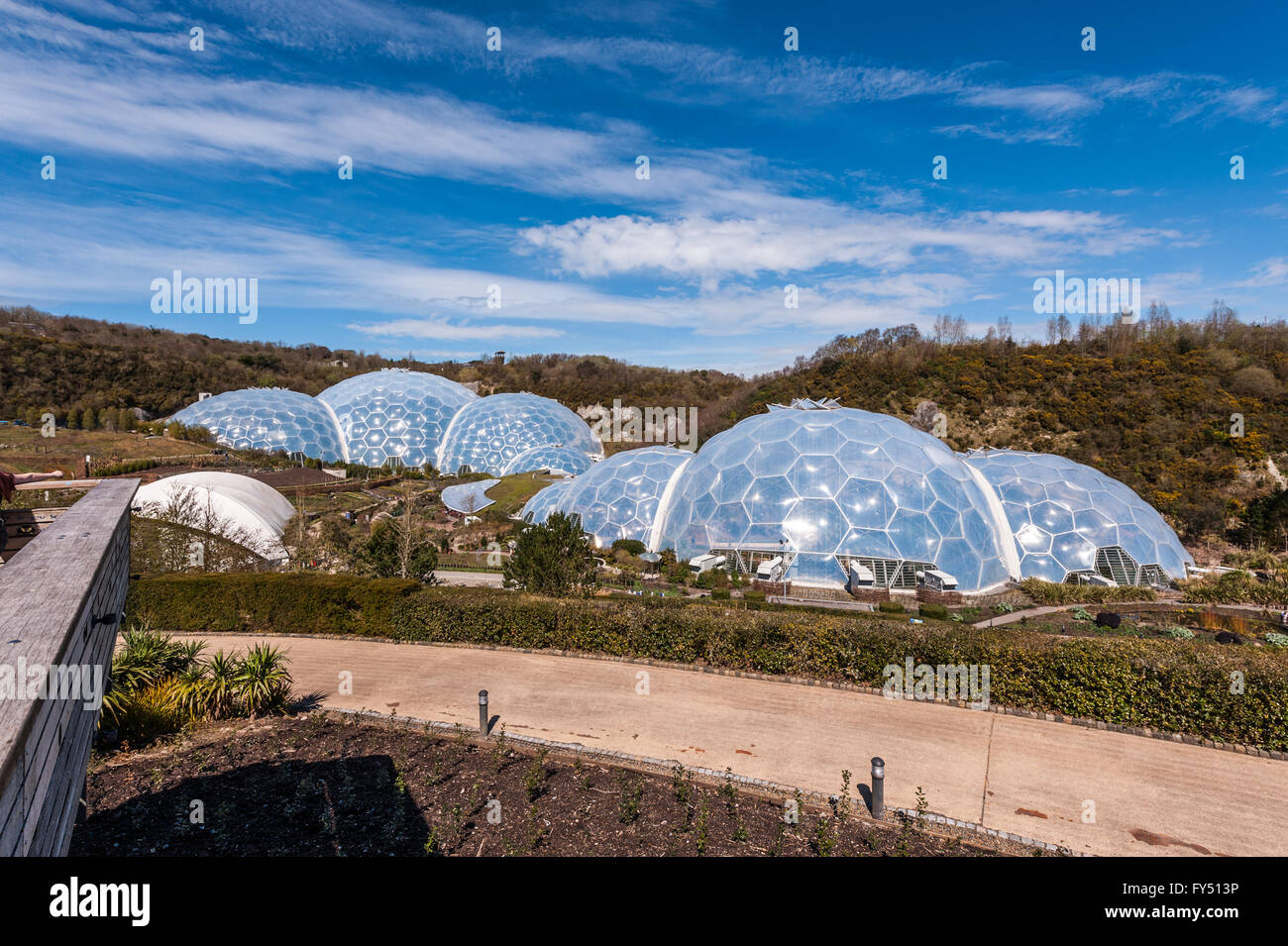 the eden project - Stock Image