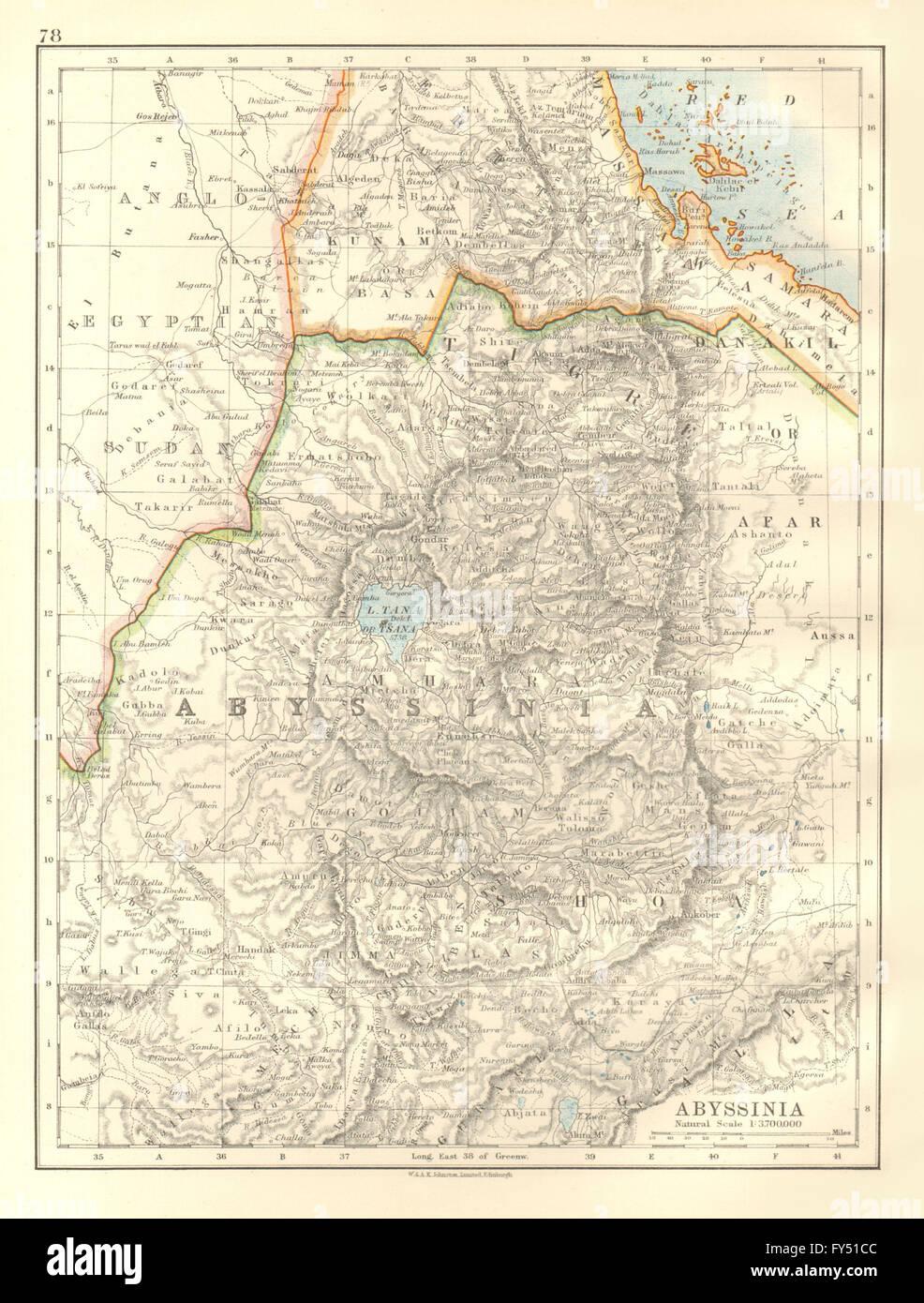 Abyssinia tigre amhara shoa gojjam ethiopia eritrea johnston abyssinia tigre amhara shoa gojjam ethiopia eritrea johnston 1920 old map gumiabroncs Image collections