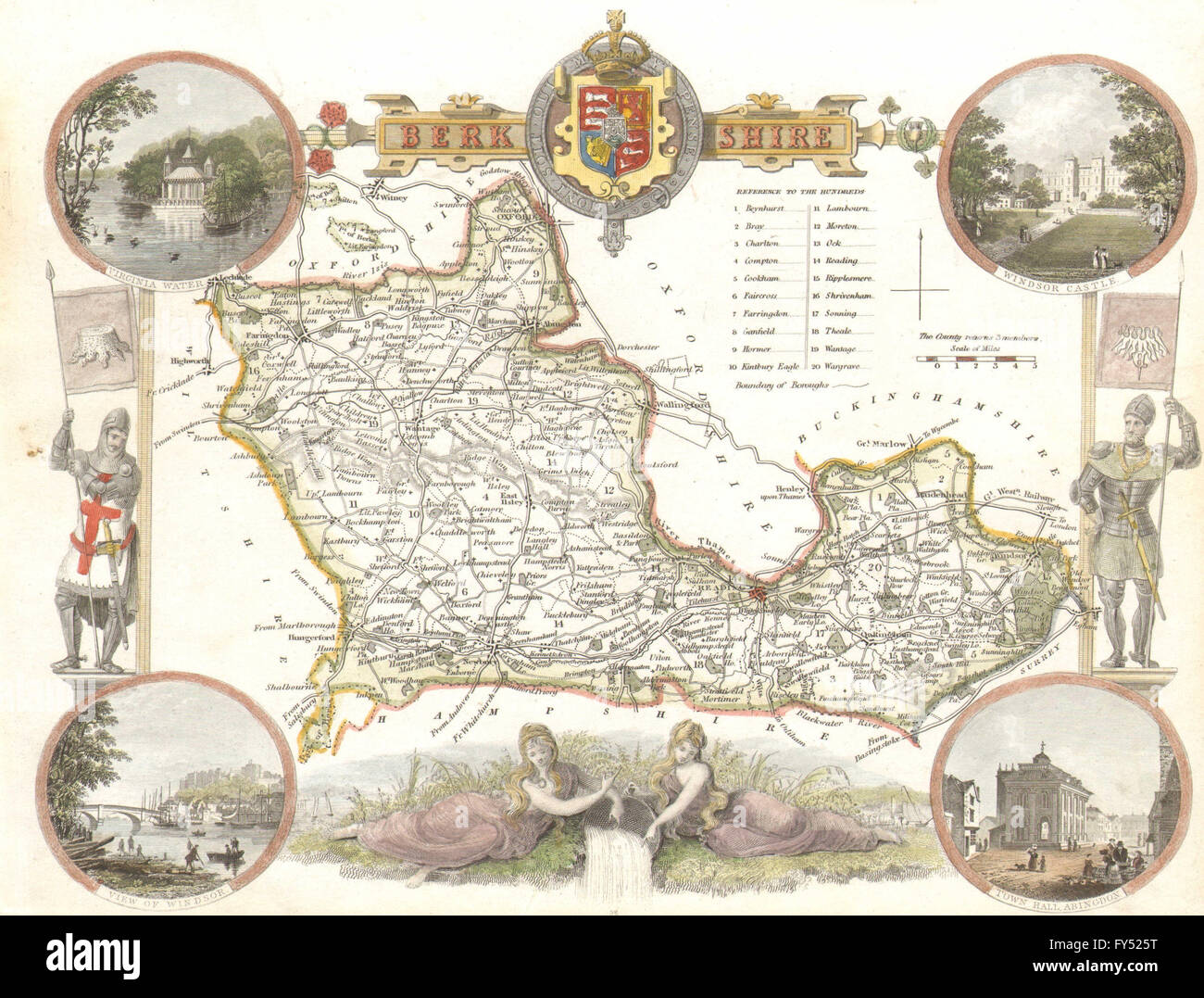 Railways Yorkshire East Riding Antique County Map Moule C1840 Easy To Use Hand Coloured