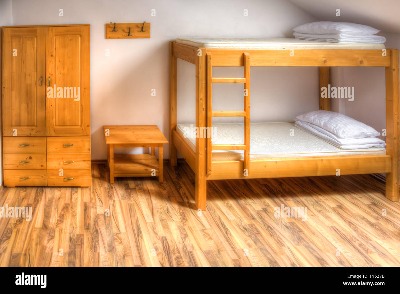Picture of: Bedroom Interior With Double Bunk Beds High Resolution Stock Photography And Images Alamy