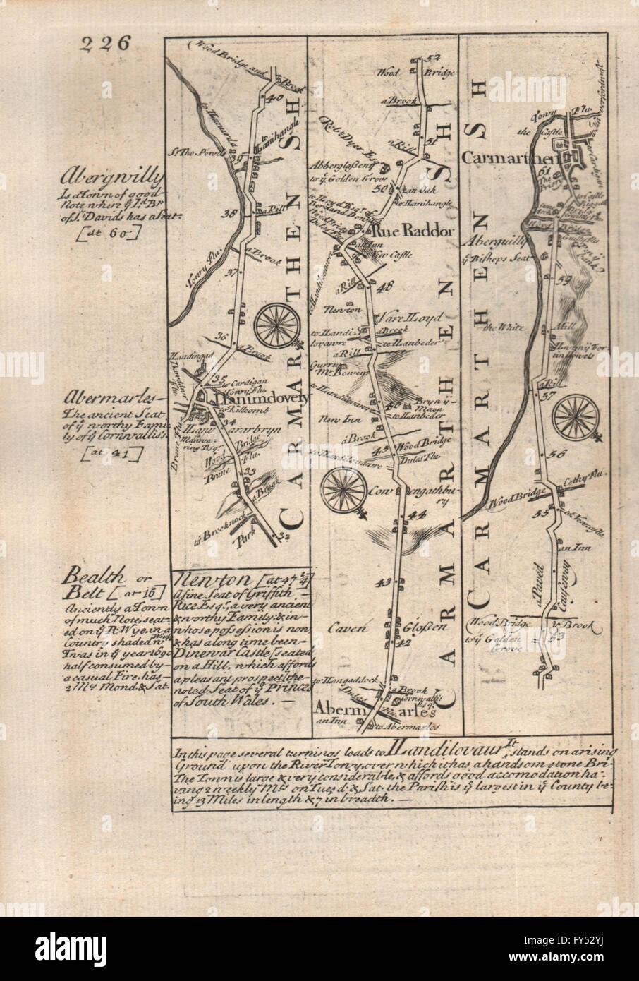 Art Maps, Atlases & Globes Royston-arrington-caxton-huntingdon-stilton Road Map By Owen & Bowen 1753
