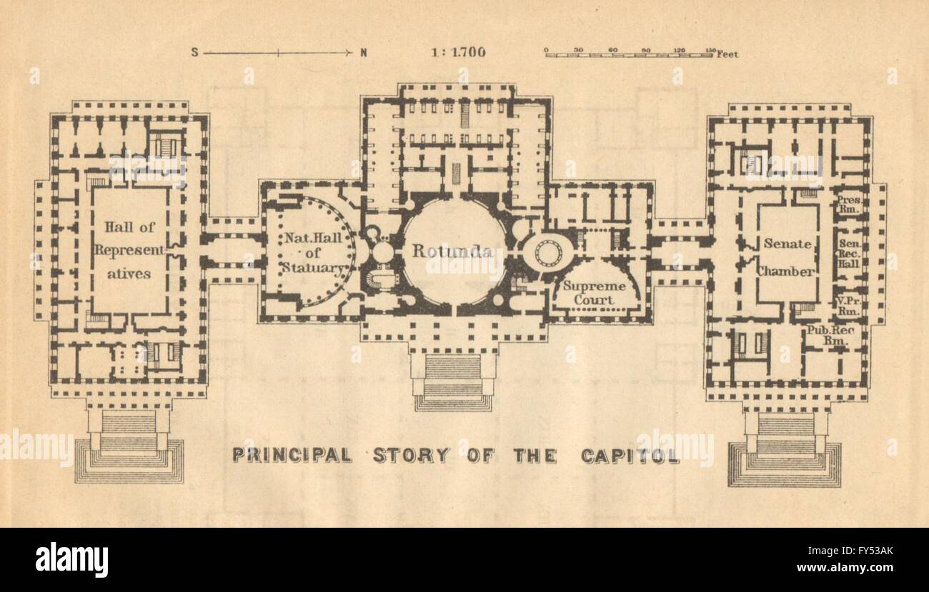 Capitol floorplan washington dc senate hall of representatives capitol floorplan washington dc senate hall of representatives small 1904 map malvernweather Gallery