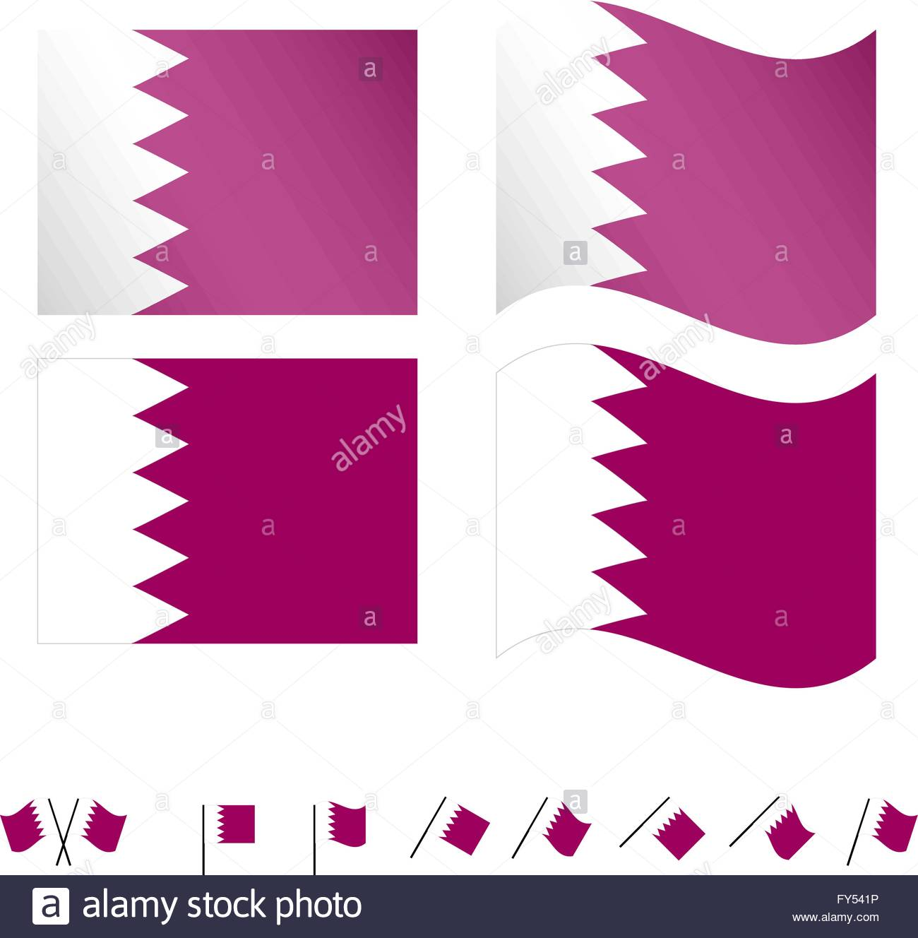 Qatar Flags EPS 10 - Stock Image