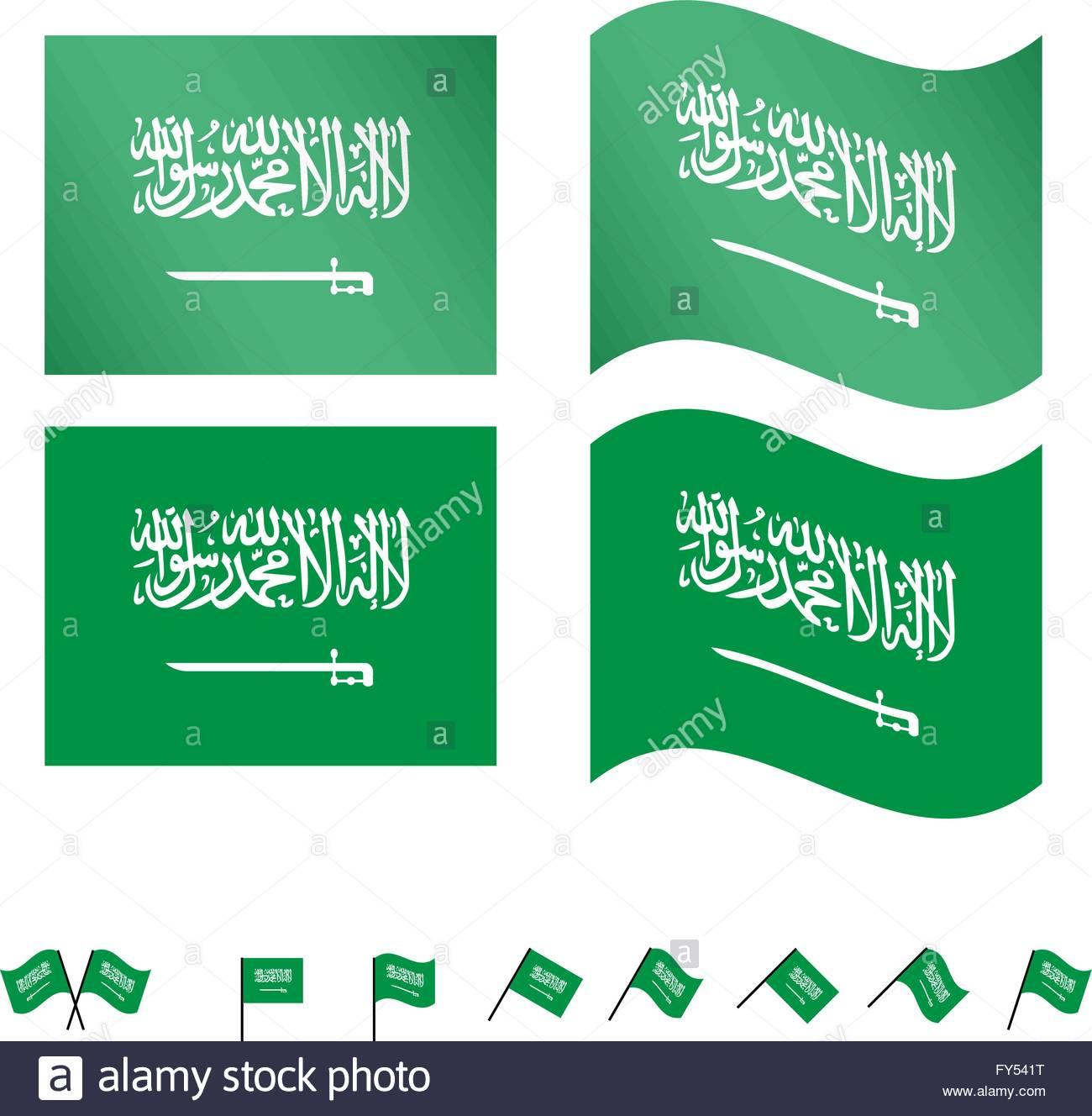 Saudi Arabia Flags EPS 10 - Stock Image