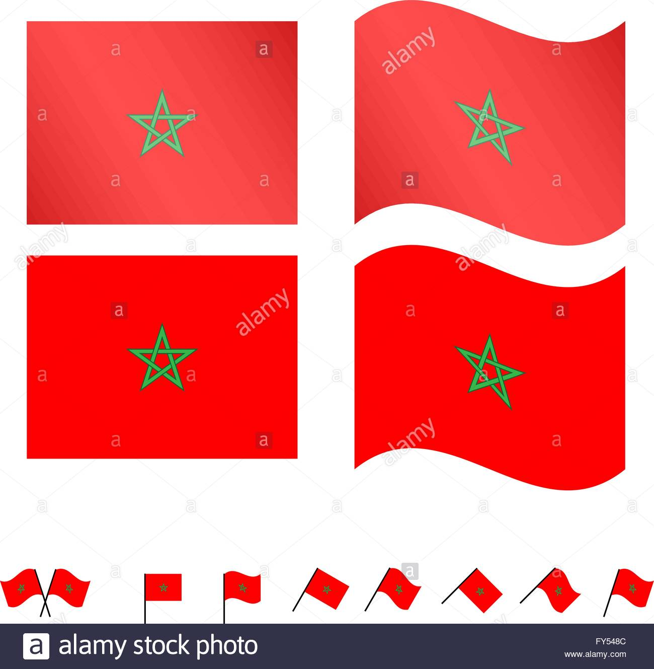 Morocco Flags EPS 10 - Stock Image