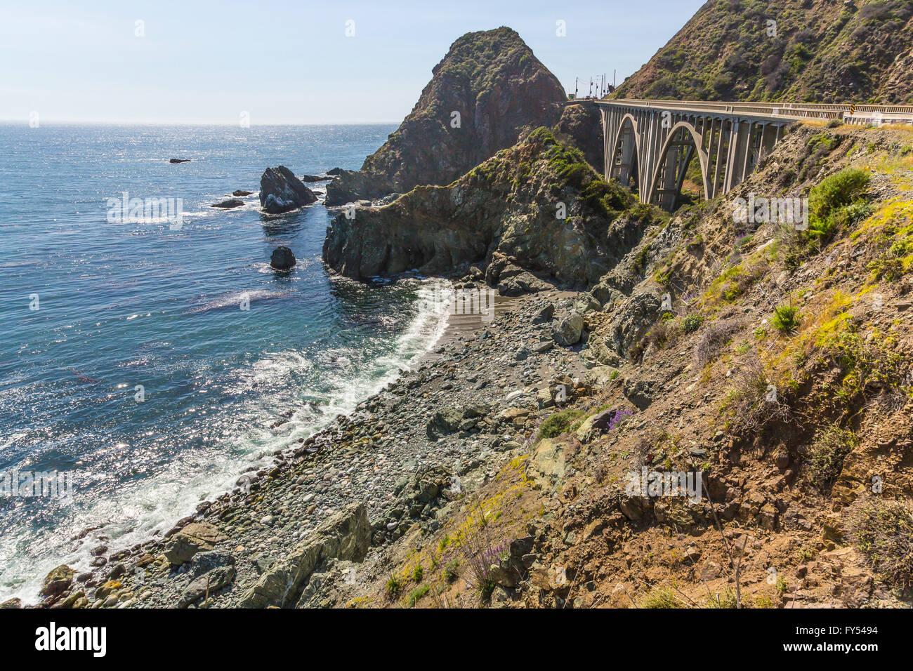 big sur bridge - Stock Image