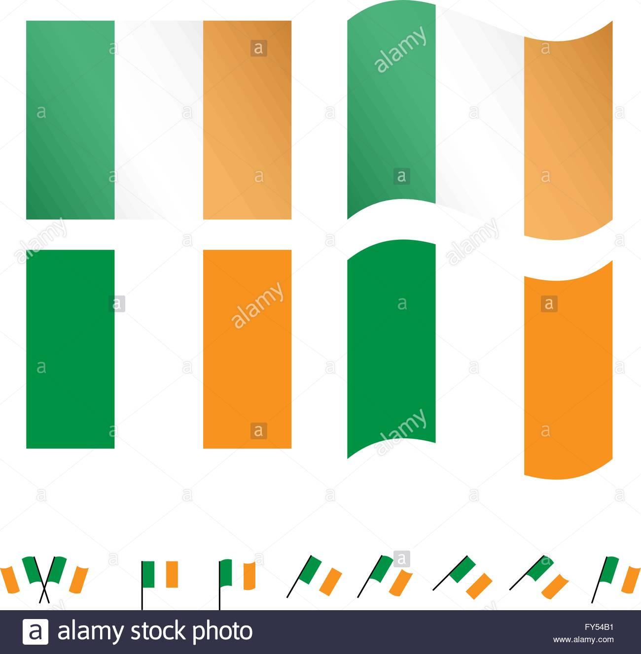 Ireland Flags EPS 10 - Stock Vector