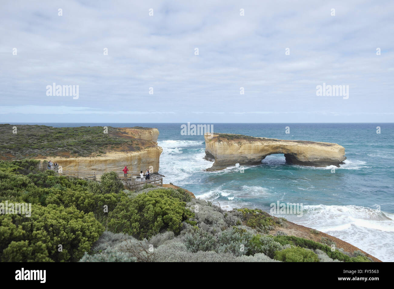 London Arch at the famous Great Ocean Road - Australia - Stock Image