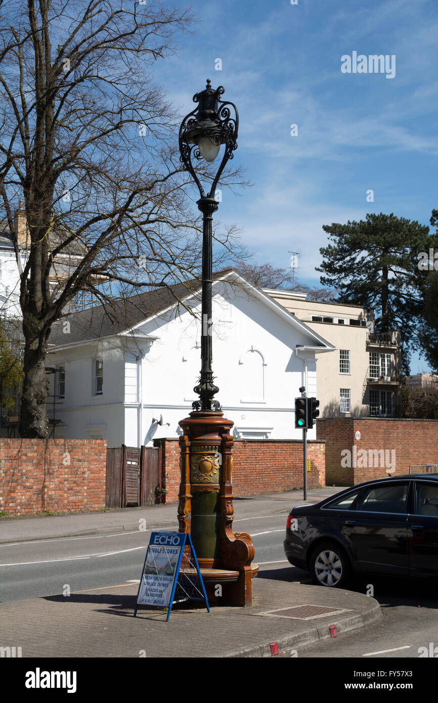 Old lamppost in Andover Road, Tivoli, Cheltenham, Gloucestershire, England, UK - Stock Image