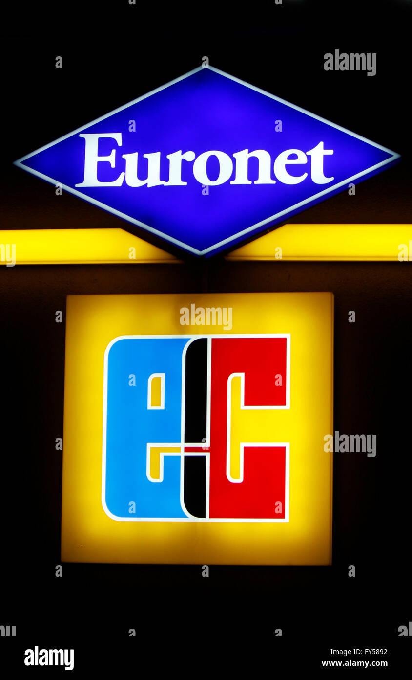 Markennamen: 'Euronet' und 'EC', Berlin. - Stock Image