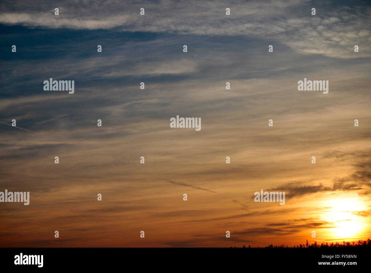 Himmel, Brandenburg. - Stock Image