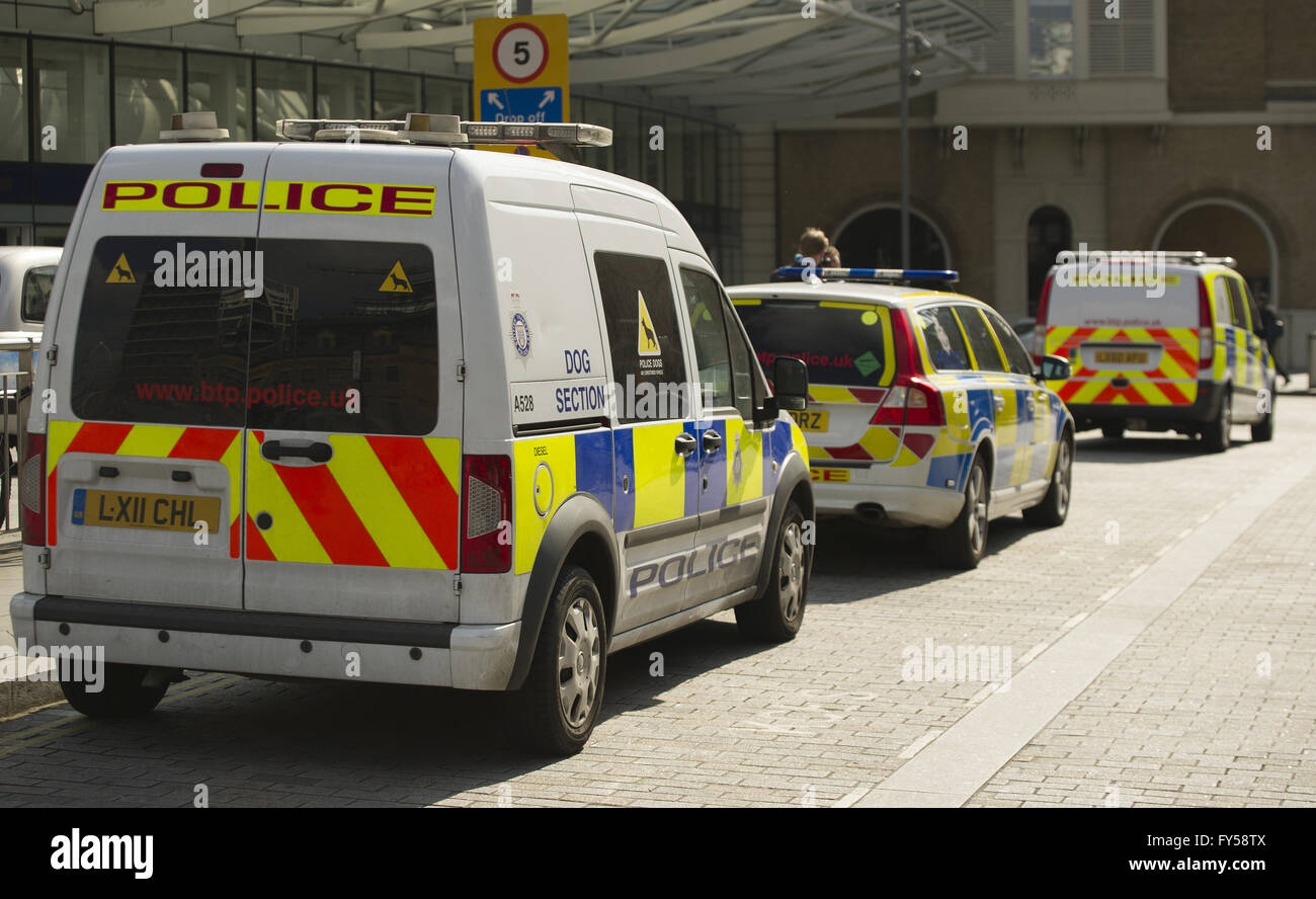 Eurostar on high alert as security is hightened following Brussels terror attack  Featuring: Atmosphere Where: London, - Stock Image