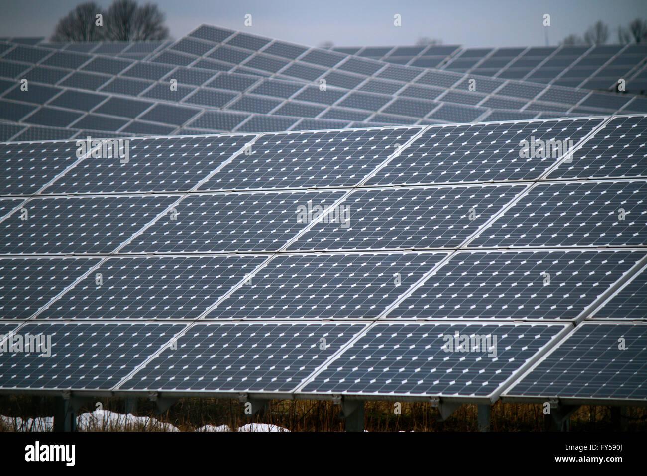 Solaranlage, Berlin. - Stock Image